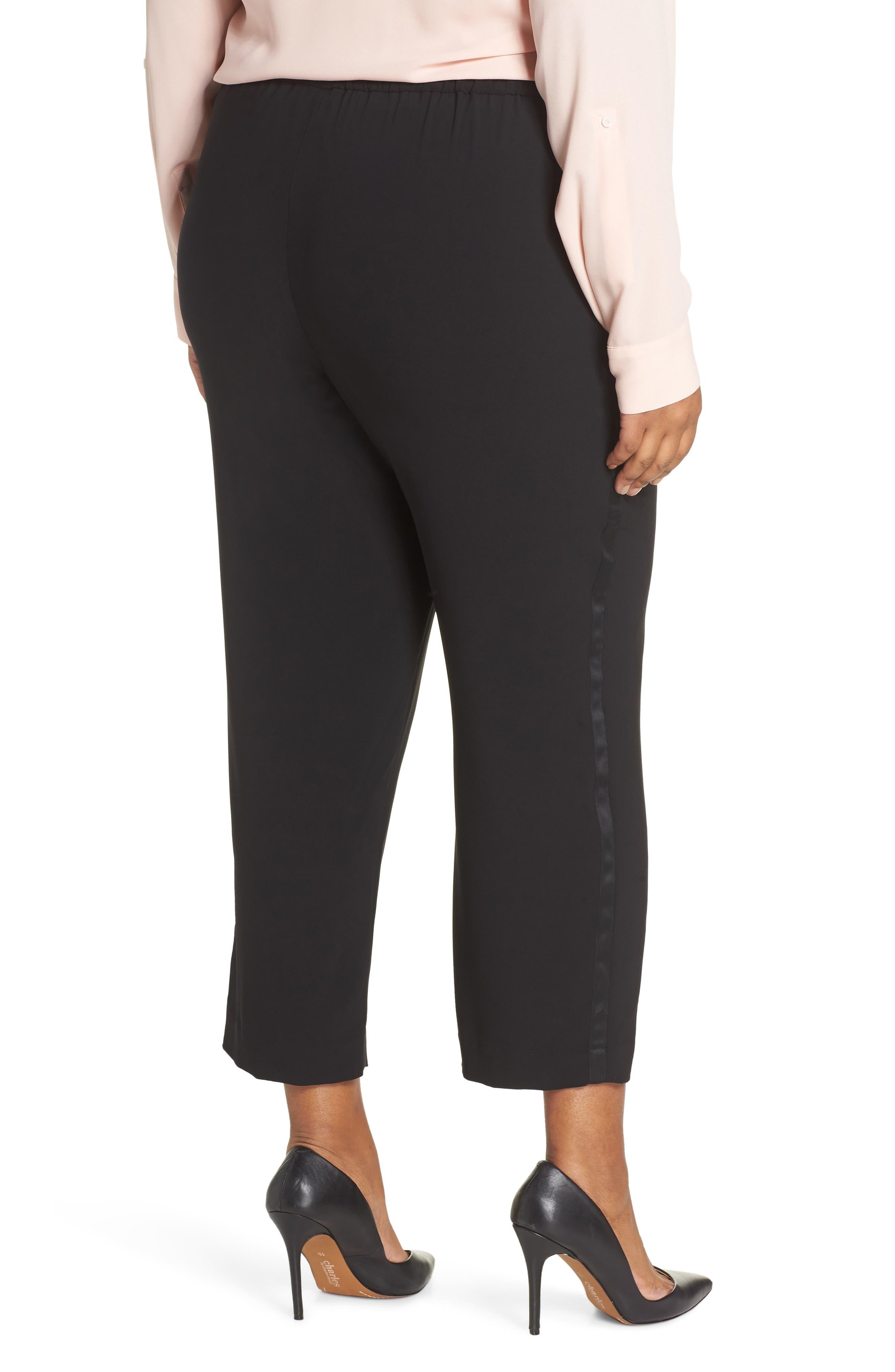 Side Seam Track Pants,                             Alternate thumbnail 2, color,                             BLACK