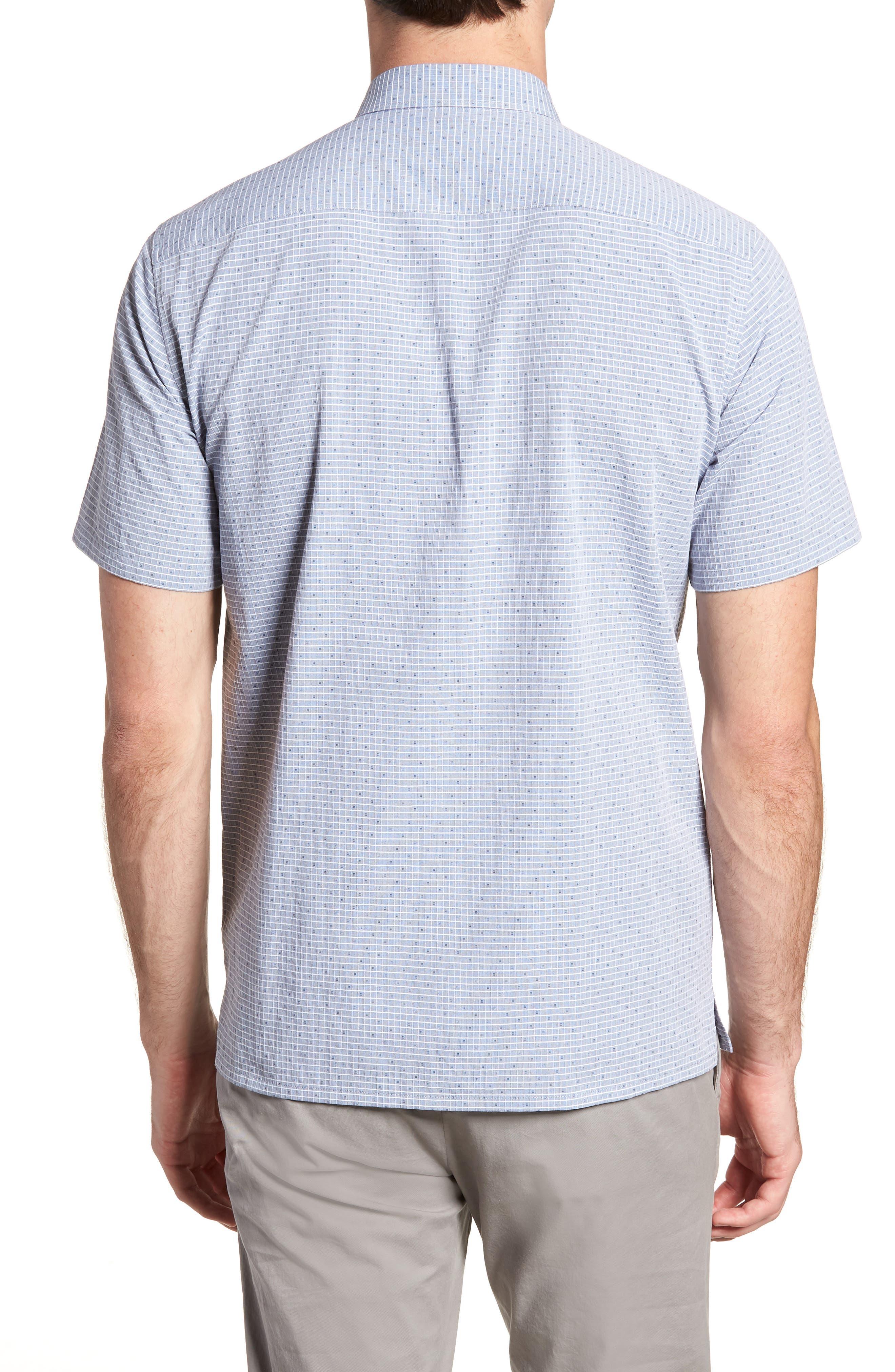 Murray Trim Fit Check Short Sleeve Sport Shirt,                             Alternate thumbnail 2, color,                             400