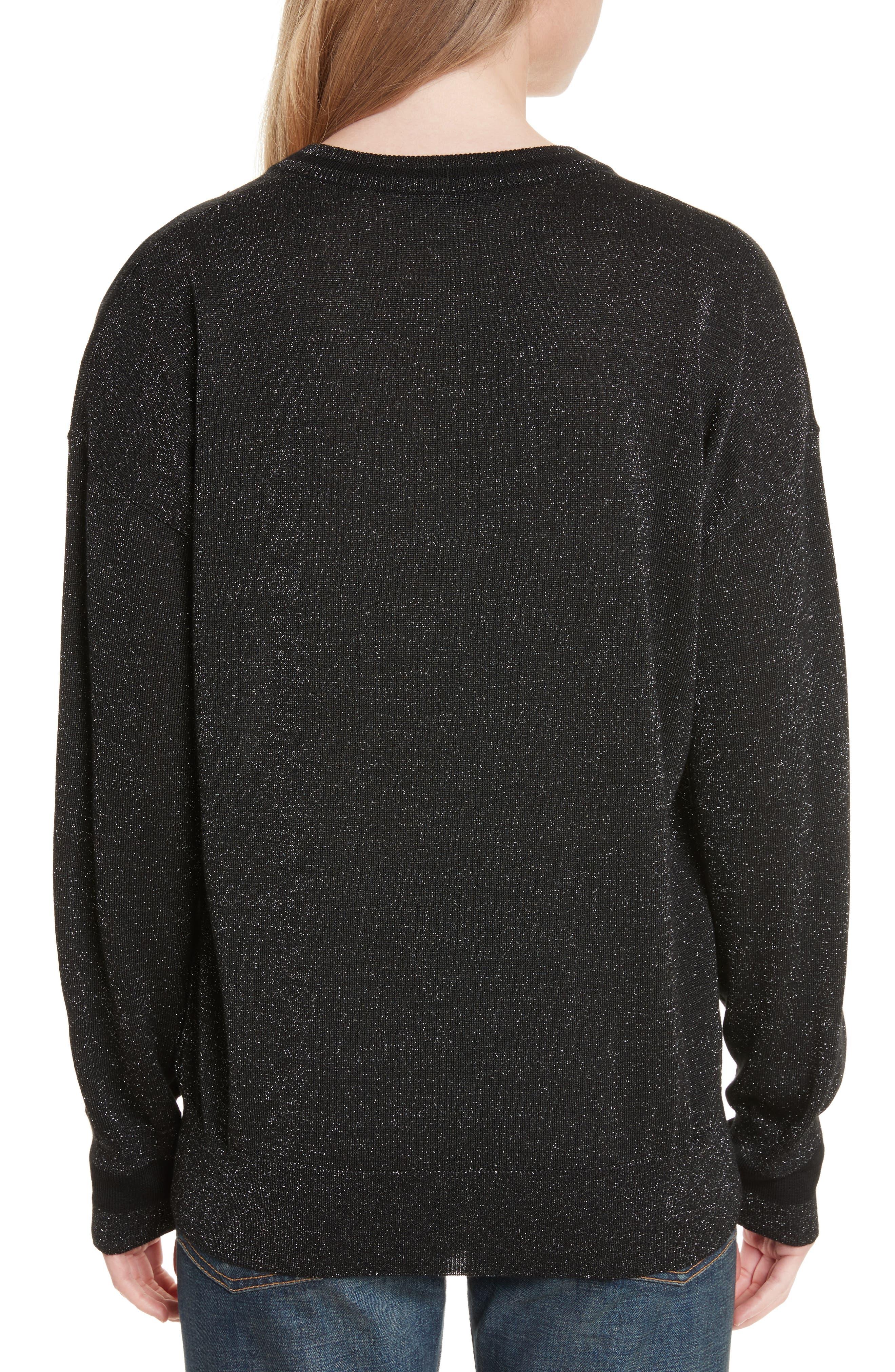 Lucinda V-Neck Sweater,                             Alternate thumbnail 2, color,