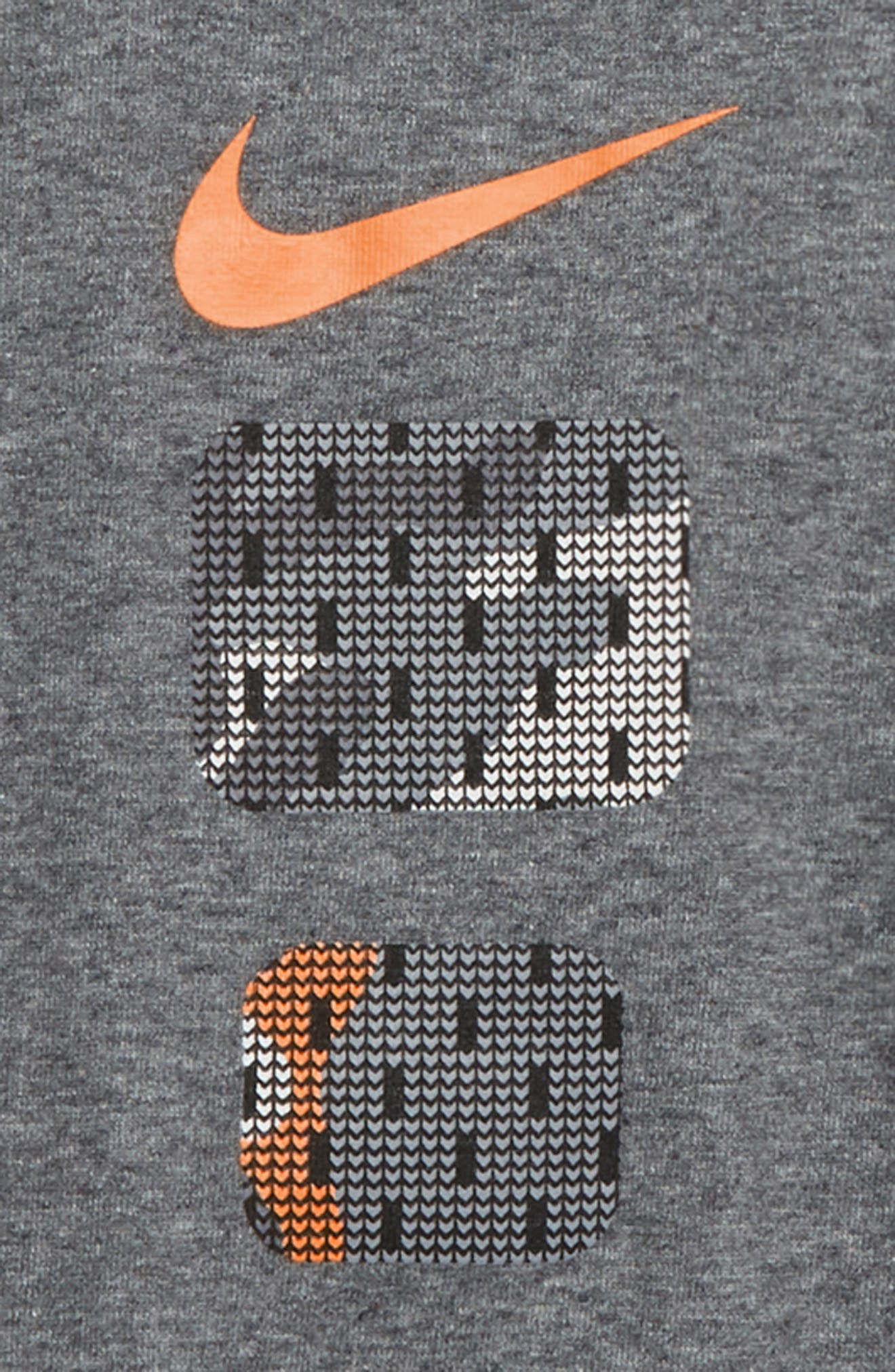 Dry Elite Pods T-Shirt,                             Alternate thumbnail 2, color,                             CHARCOAL HEATHER/ AMARILLO