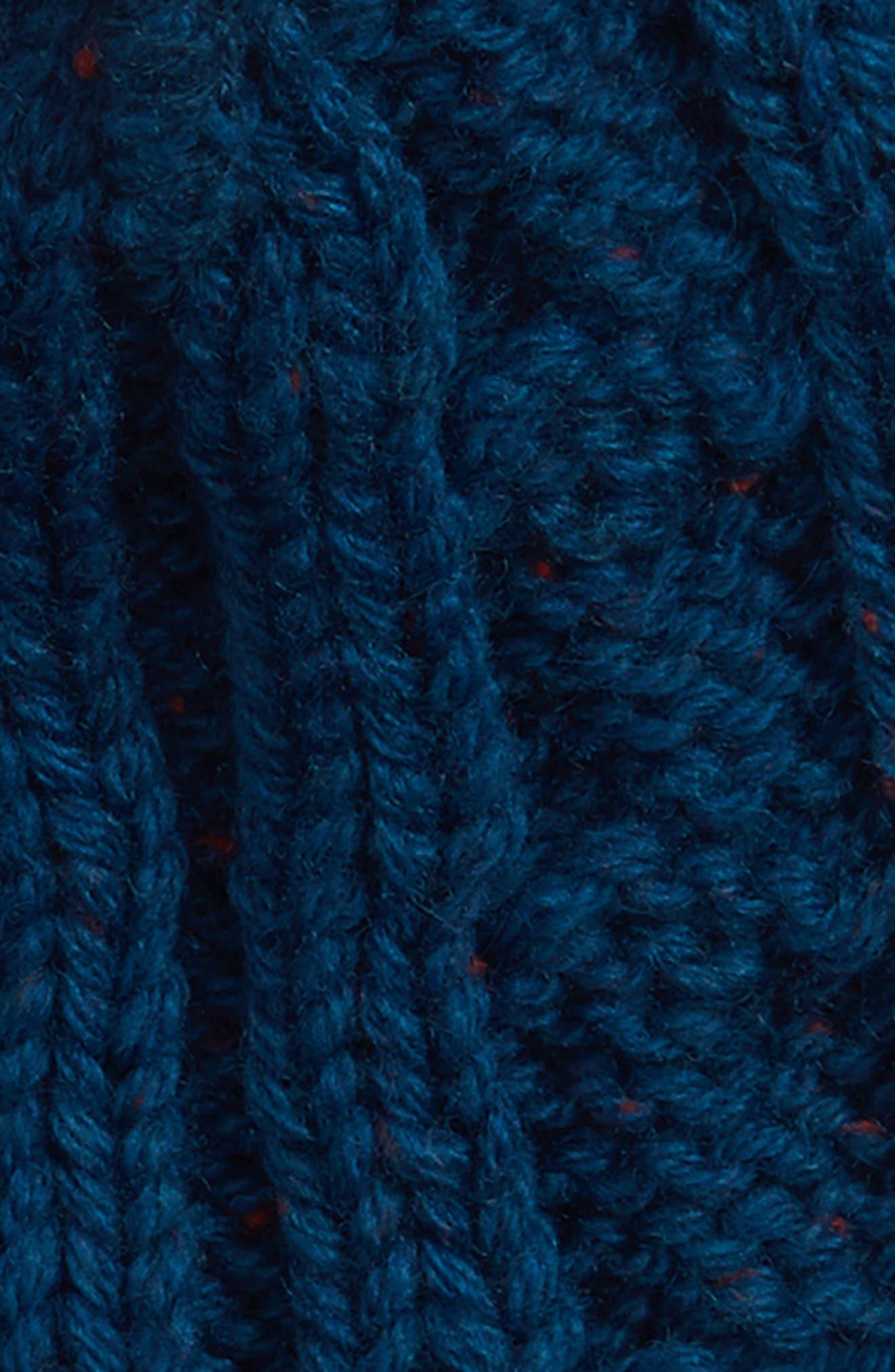 Sportswear Women's Beanie,                             Alternate thumbnail 4, color,                             BLUE/ HABANERO RED/ SILVER