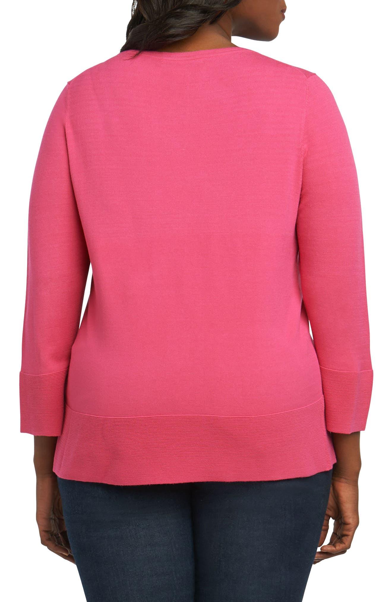 Leda Ottoman Rib Sweater,                             Alternate thumbnail 4, color,