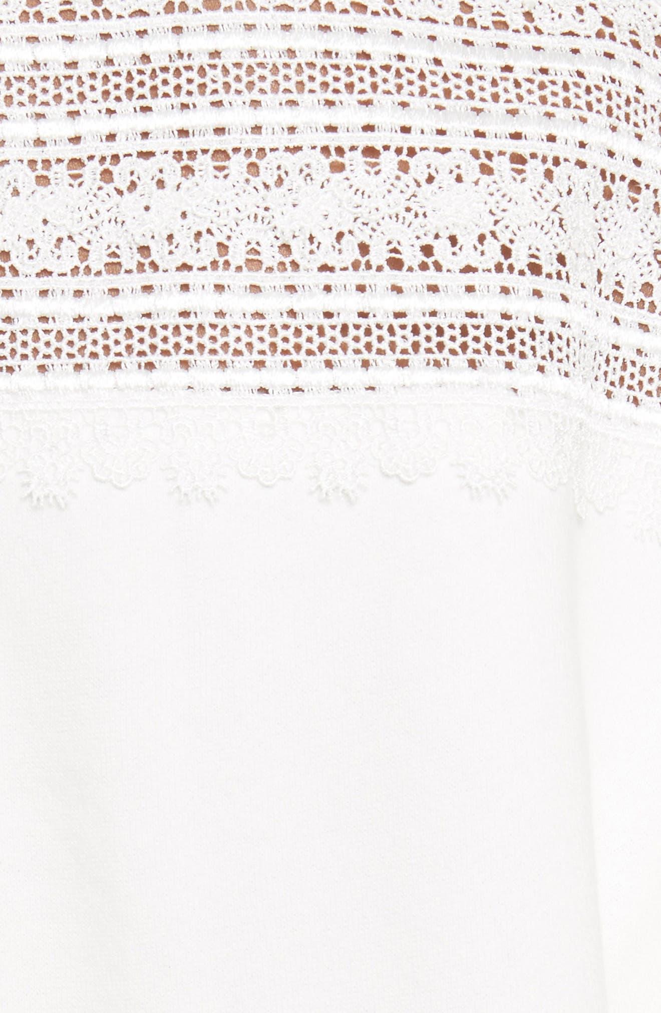 Lace Yoke Sweater,                             Alternate thumbnail 5, color,                             900