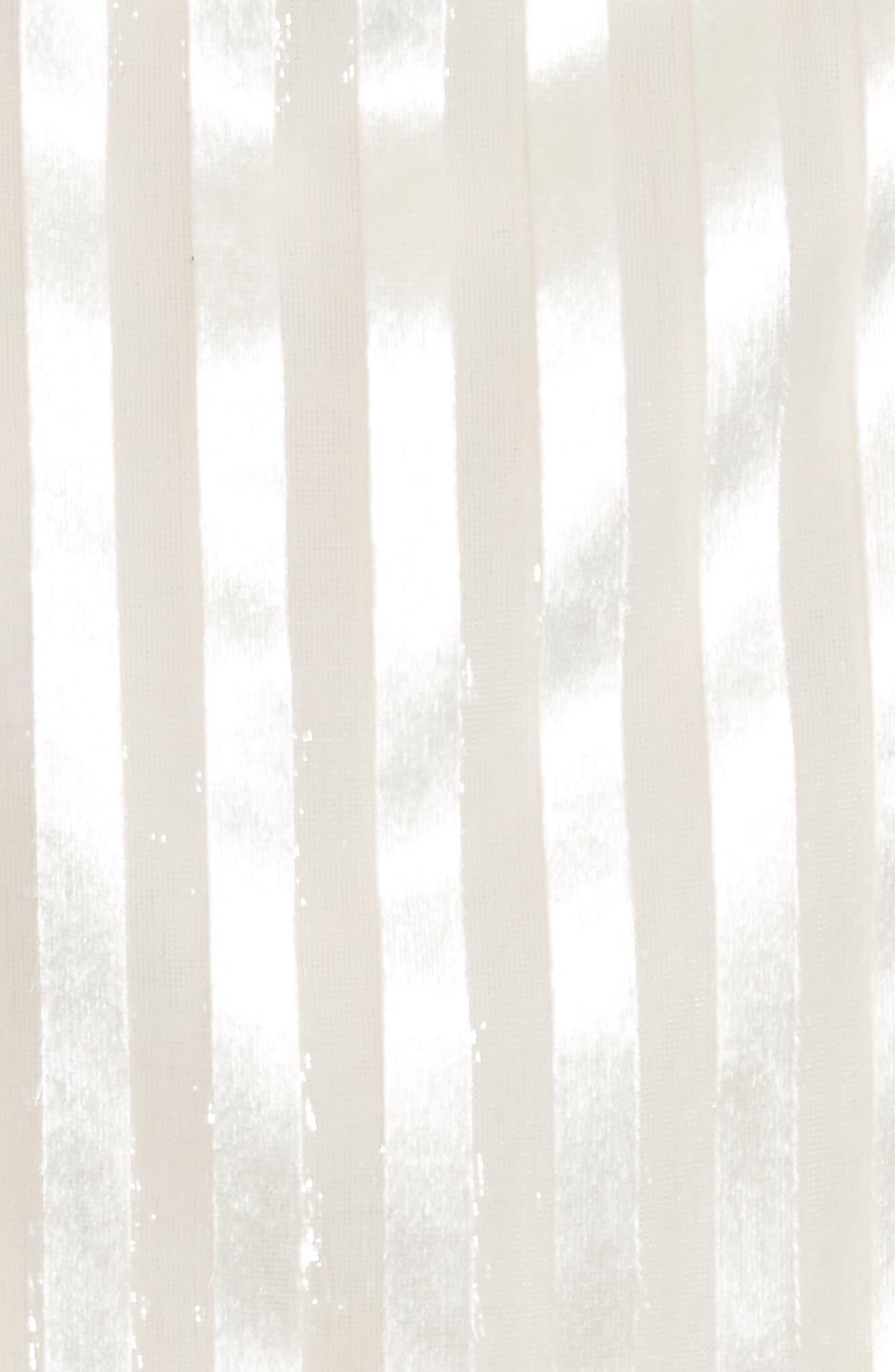 Cowl Neck Stripe Liquid Velvet Top,                             Alternate thumbnail 5, color,                             101