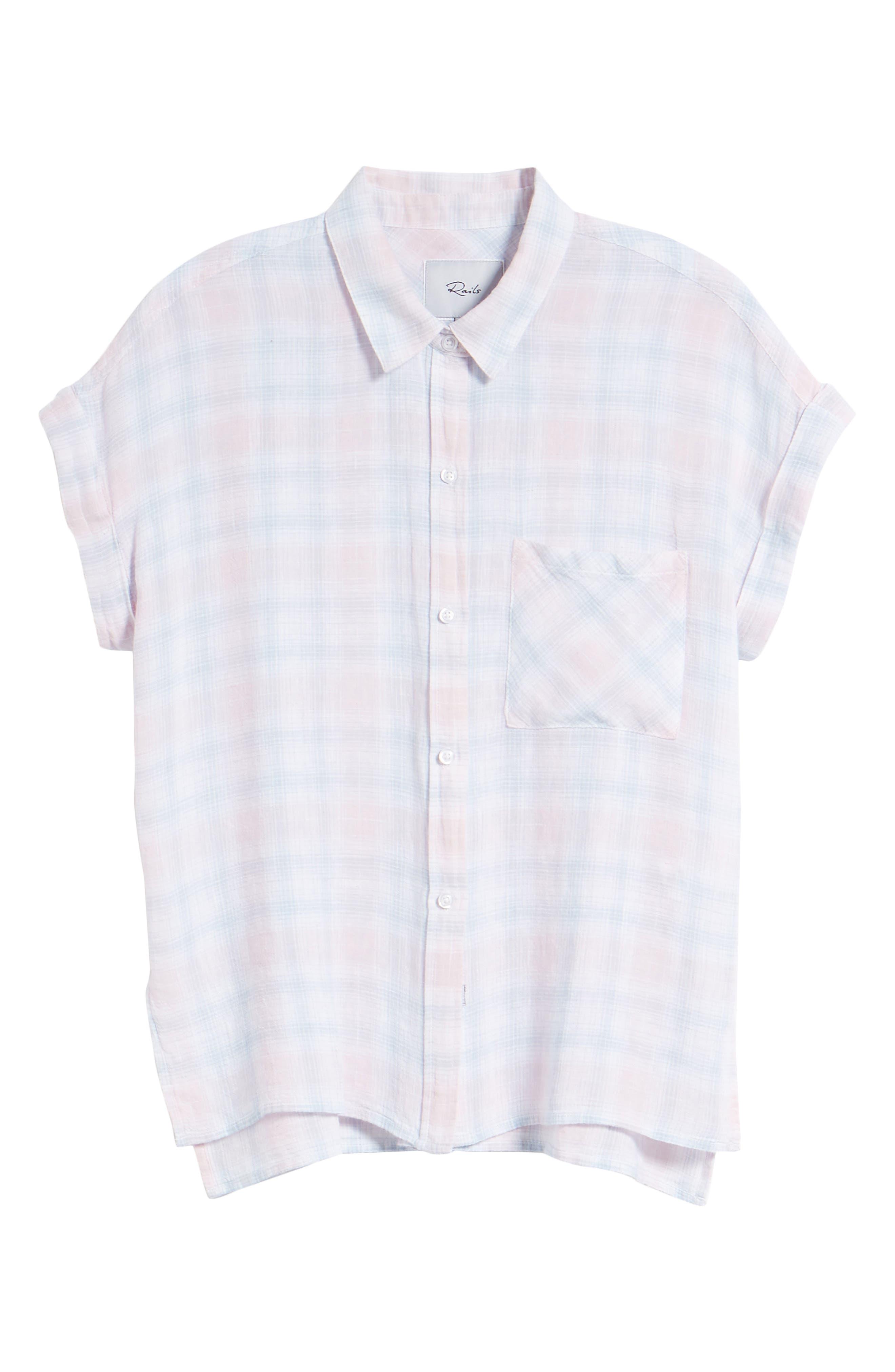 Whitney Shirt,                             Alternate thumbnail 7, color,                             WHITE BLUSH SKY