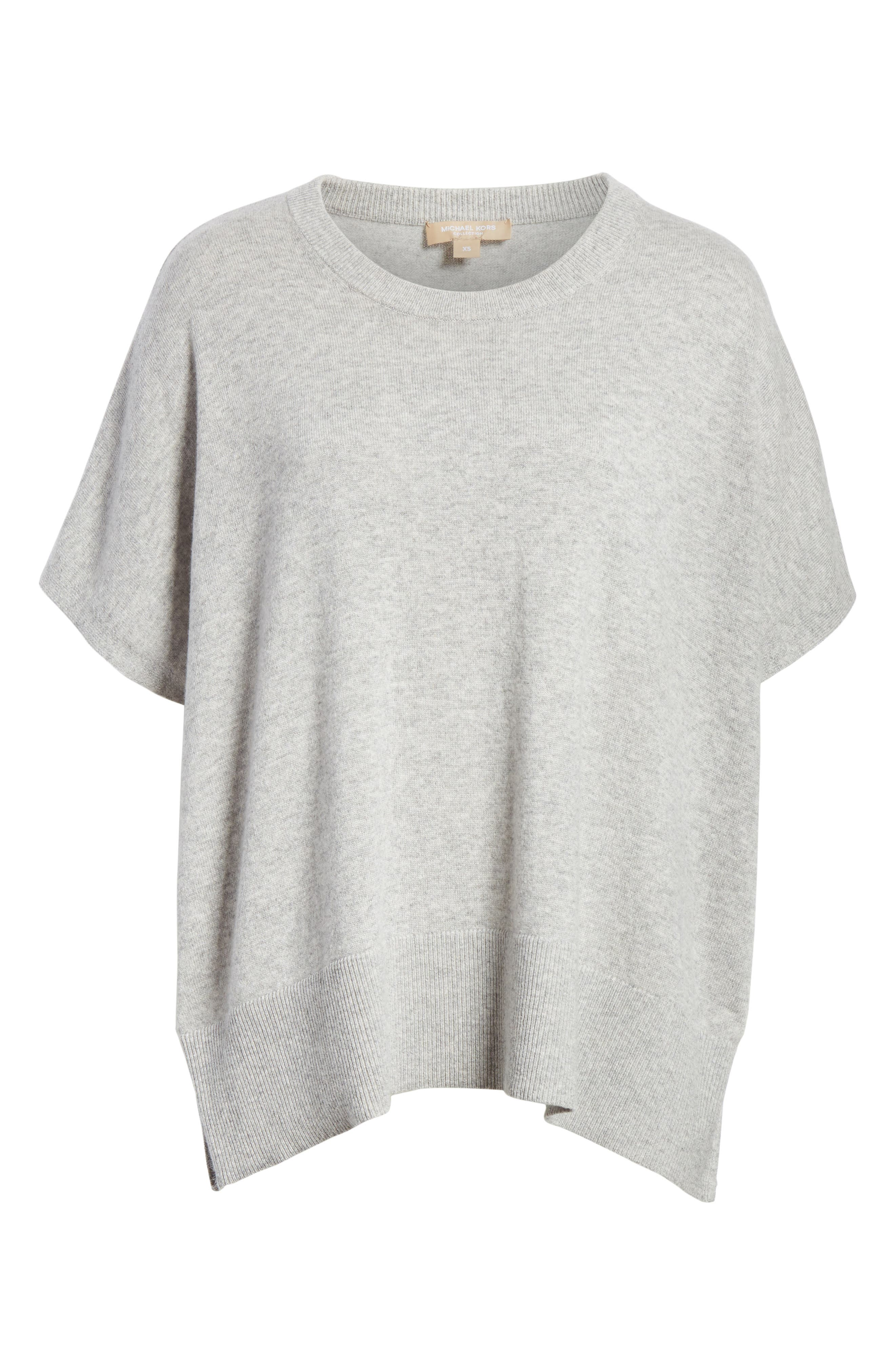 Cashmere Draped Pullover,                             Alternate thumbnail 7, color,                             PEARL GREY MELANGE