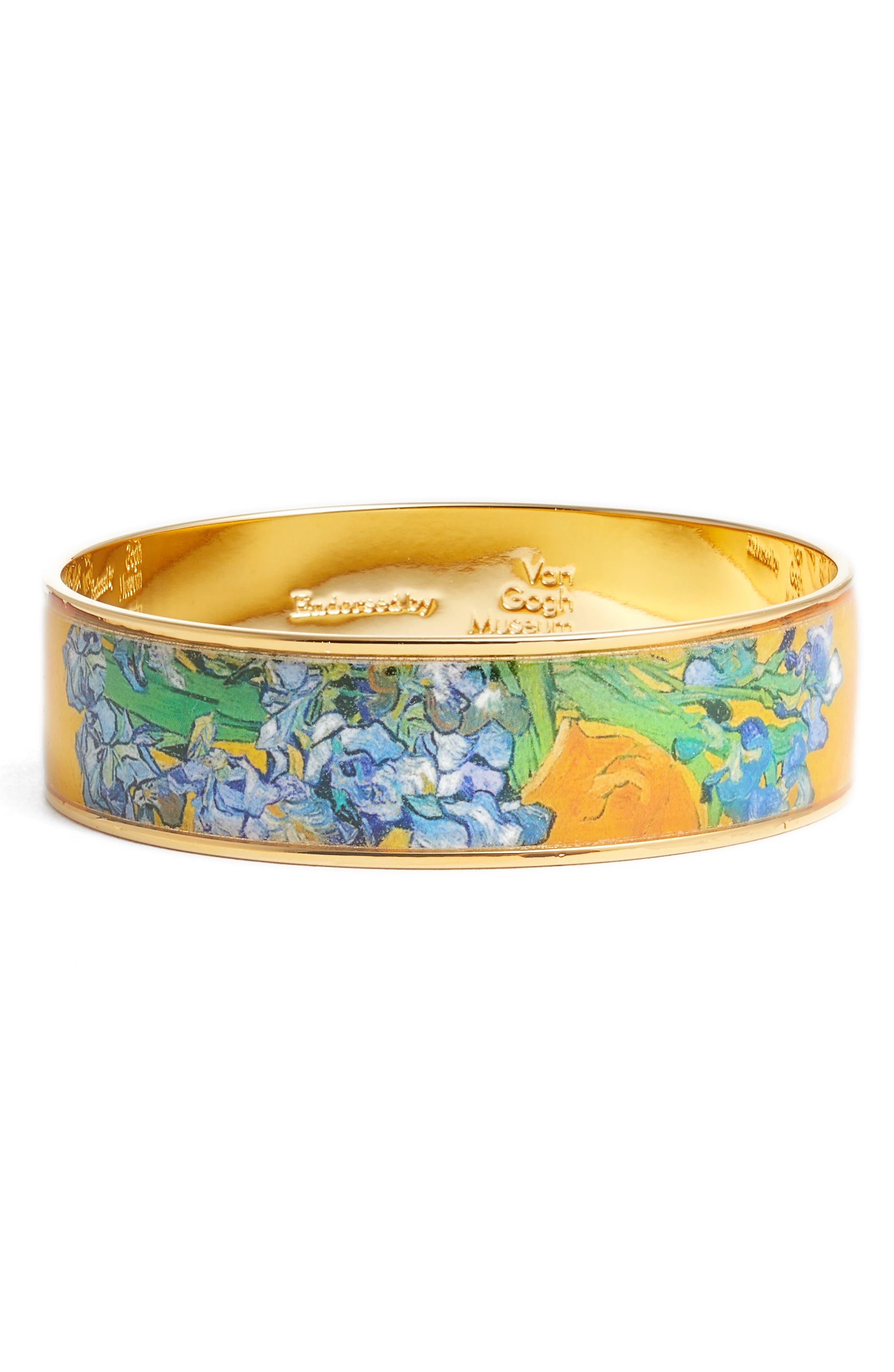 Irises Medium Bangle Bracelet,                             Main thumbnail 1, color,                             YELLOW/ GOLD