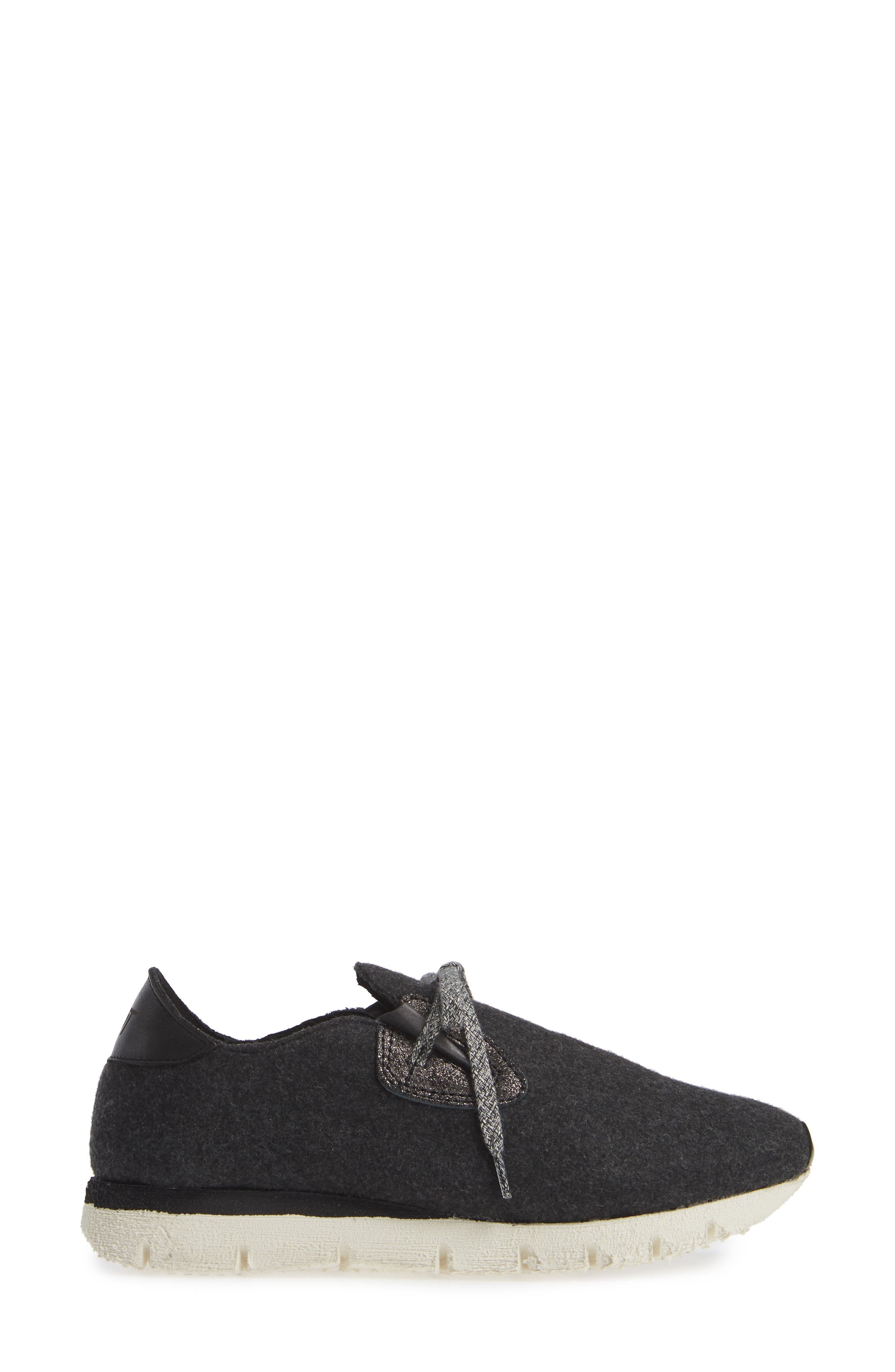 Radius Sneaker,                             Alternate thumbnail 3, color,                             CHARCOAL