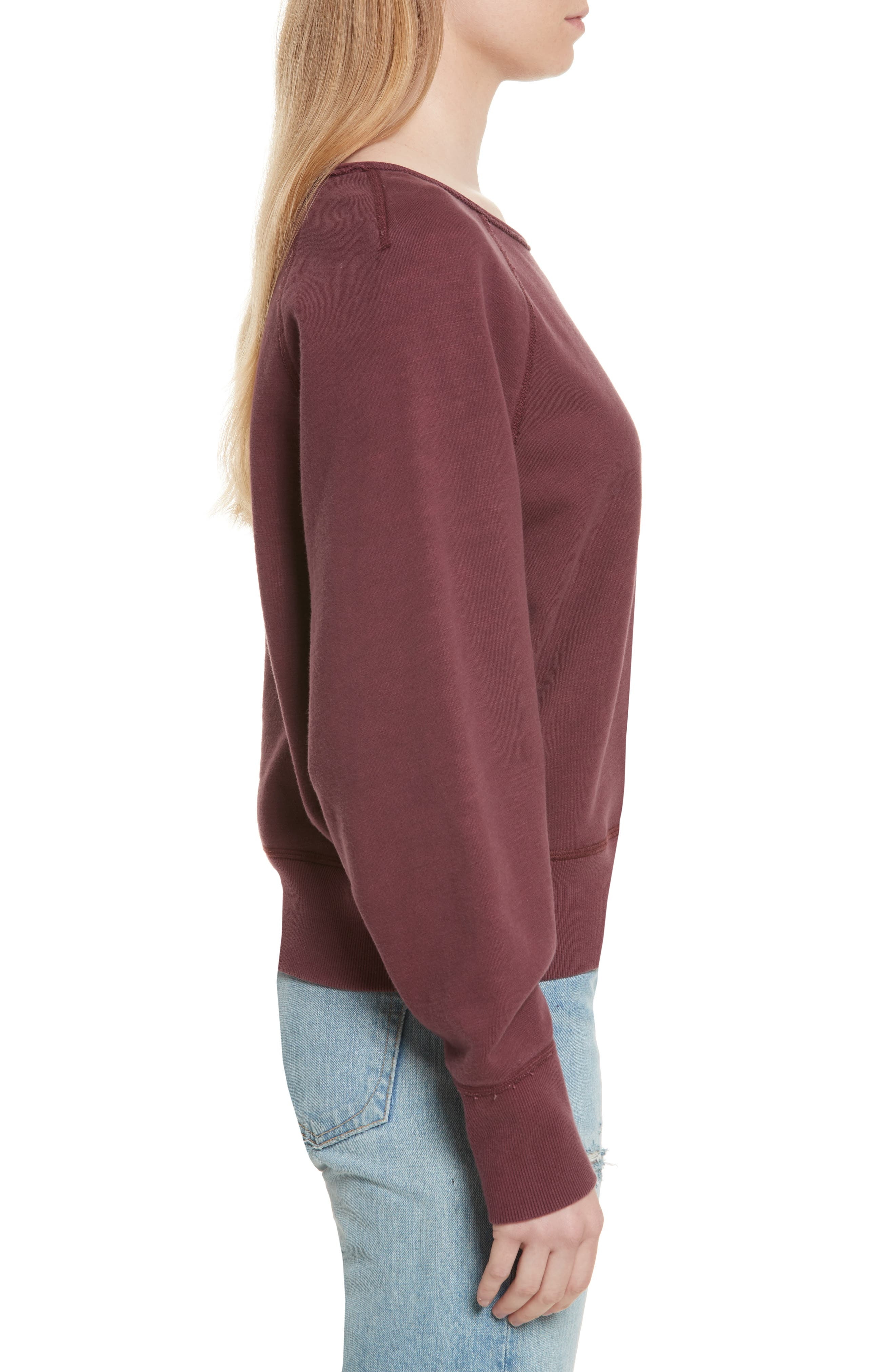 Classic Crop Pullover,                             Alternate thumbnail 3, color,                             618