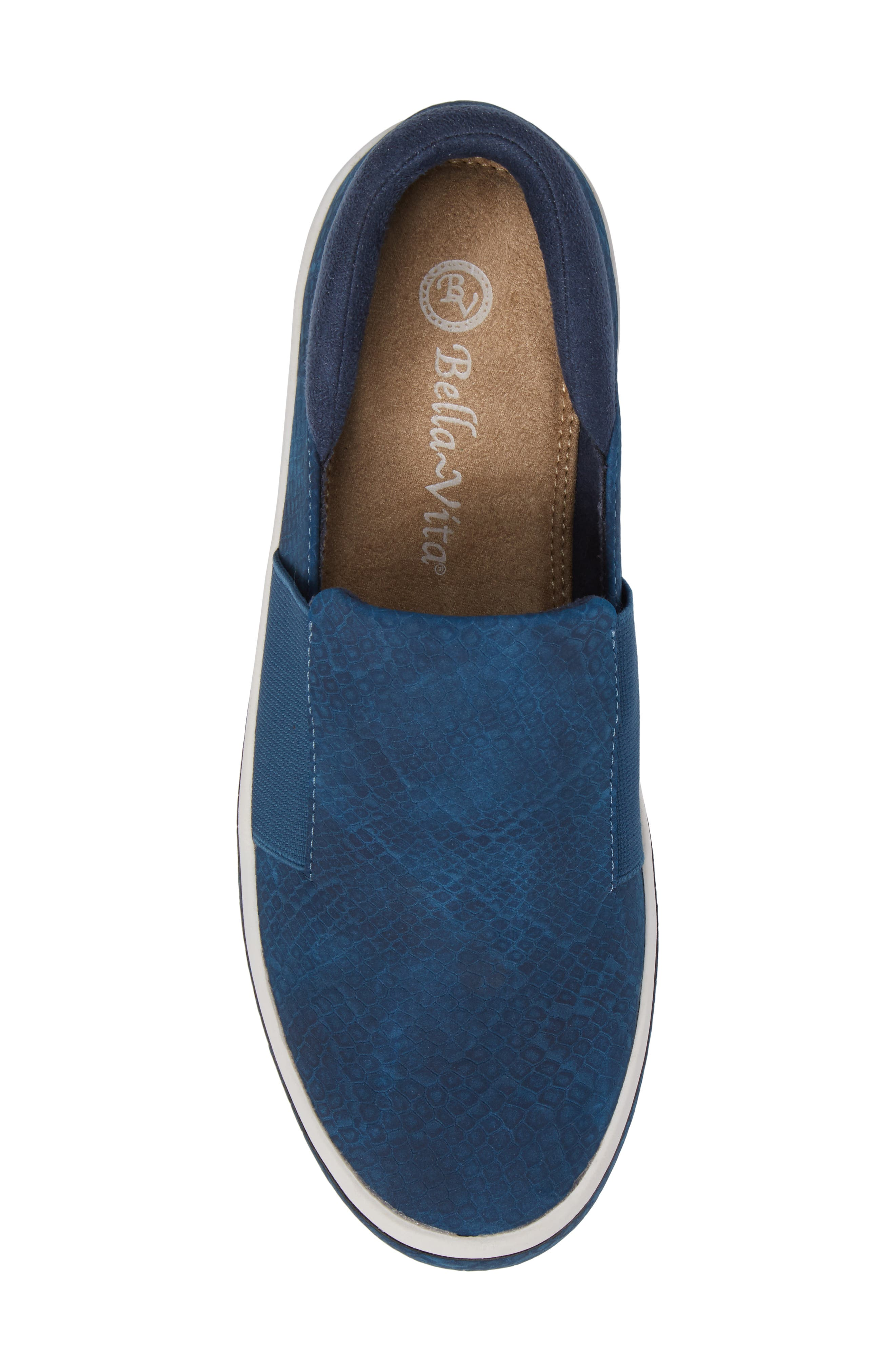 Switch II Slip-On Sneaker,                             Alternate thumbnail 5, color,                             NAVY PRINTED LEATHER