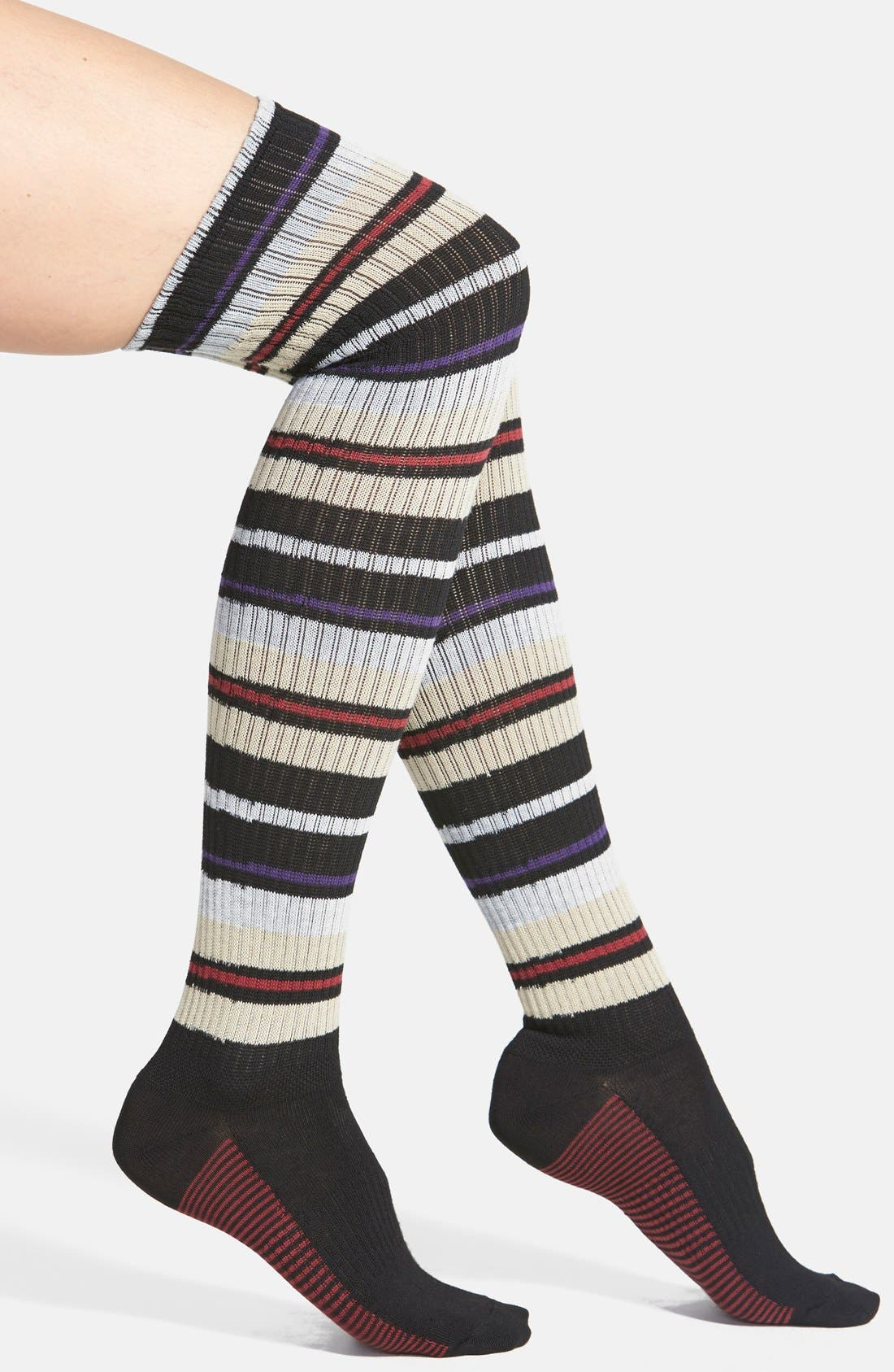 'High Road' Over the Knee Socks,                             Main thumbnail 1, color,                             001
