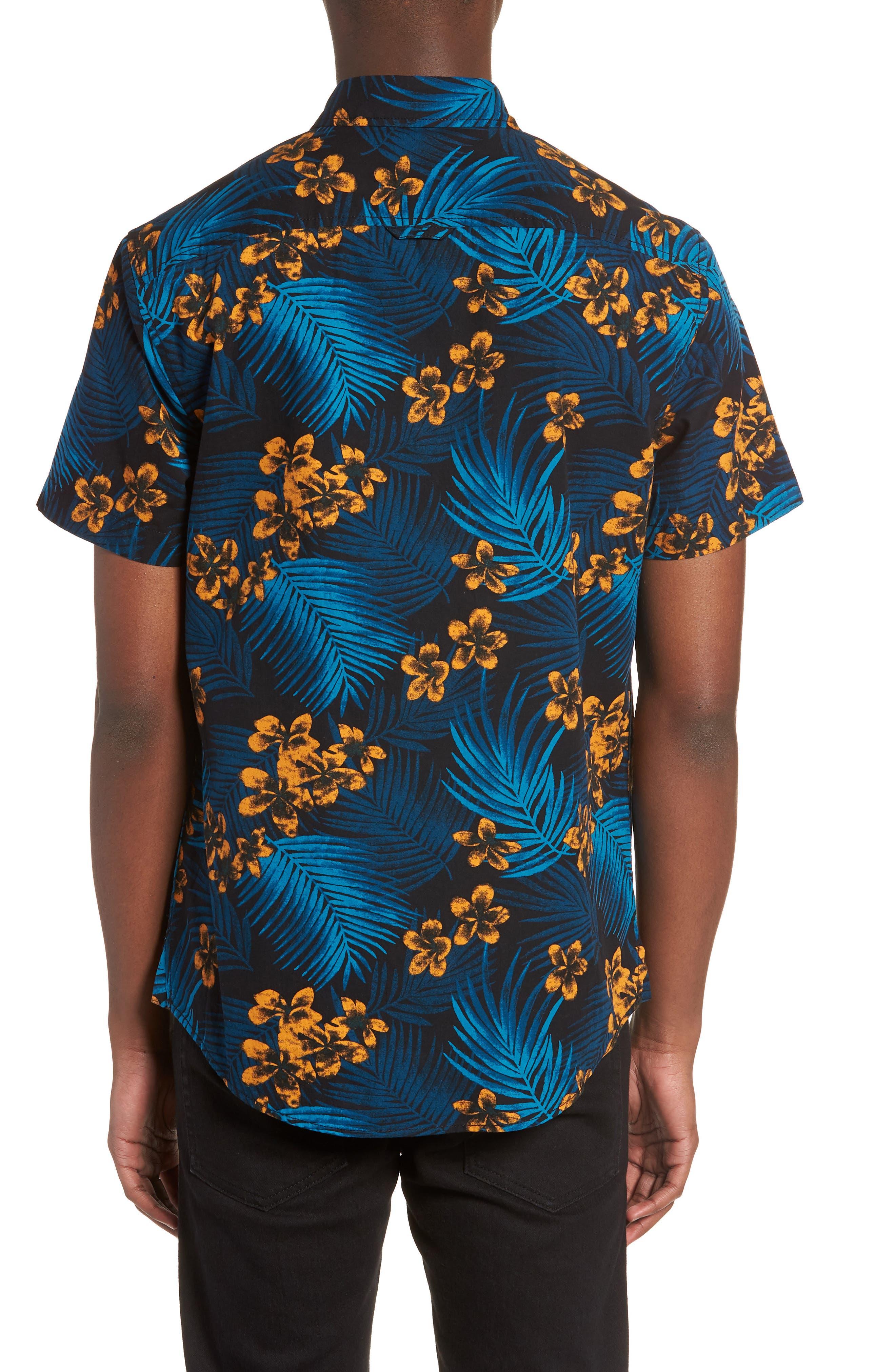 Short Sleeve Print Poplin Shirt,                             Alternate thumbnail 6, color,
