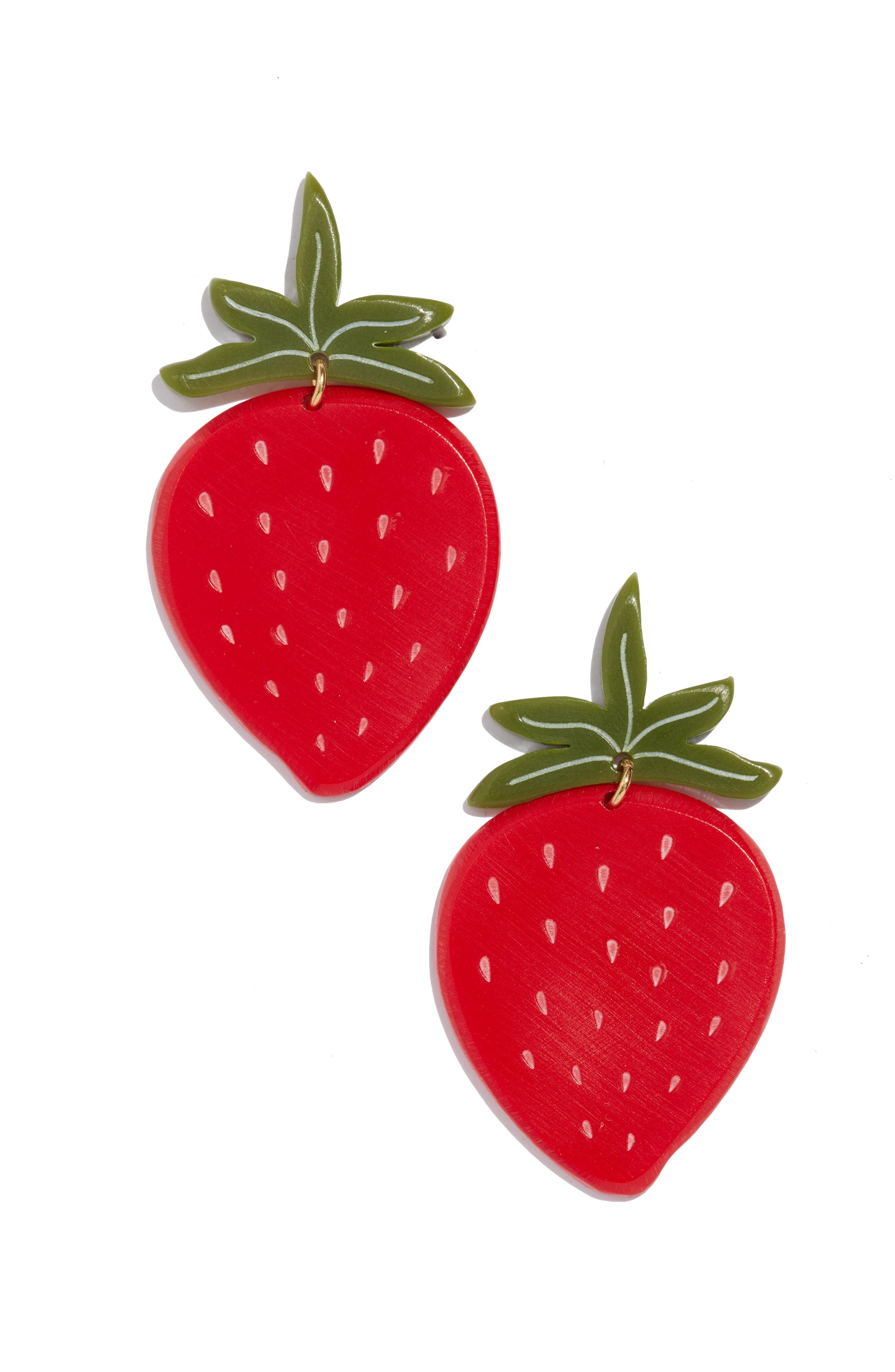 Strawberry Earrings, Main, color, RED