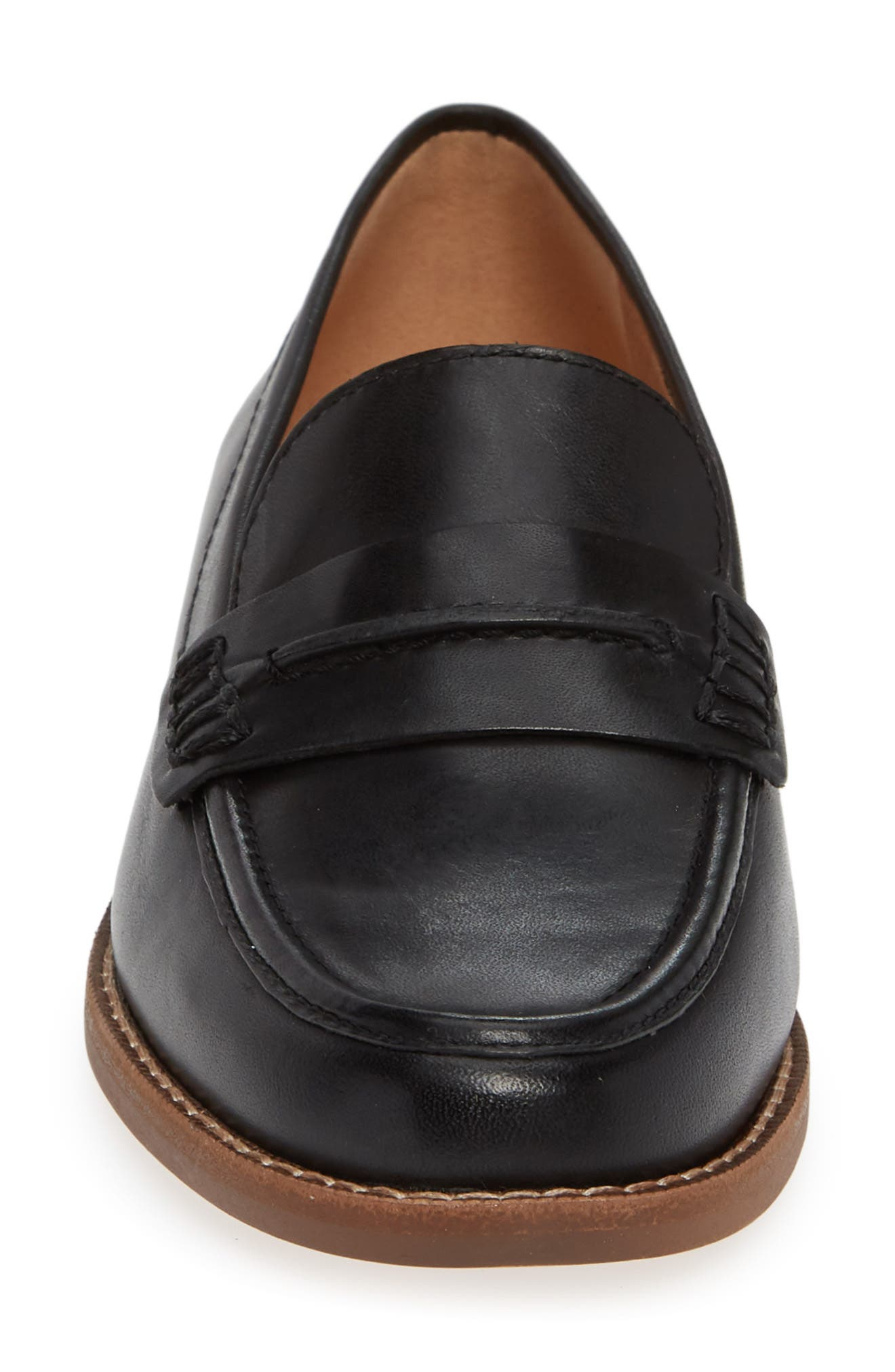 The Elinor Loafer,                             Alternate thumbnail 4, color,                             BLACK LEATHER