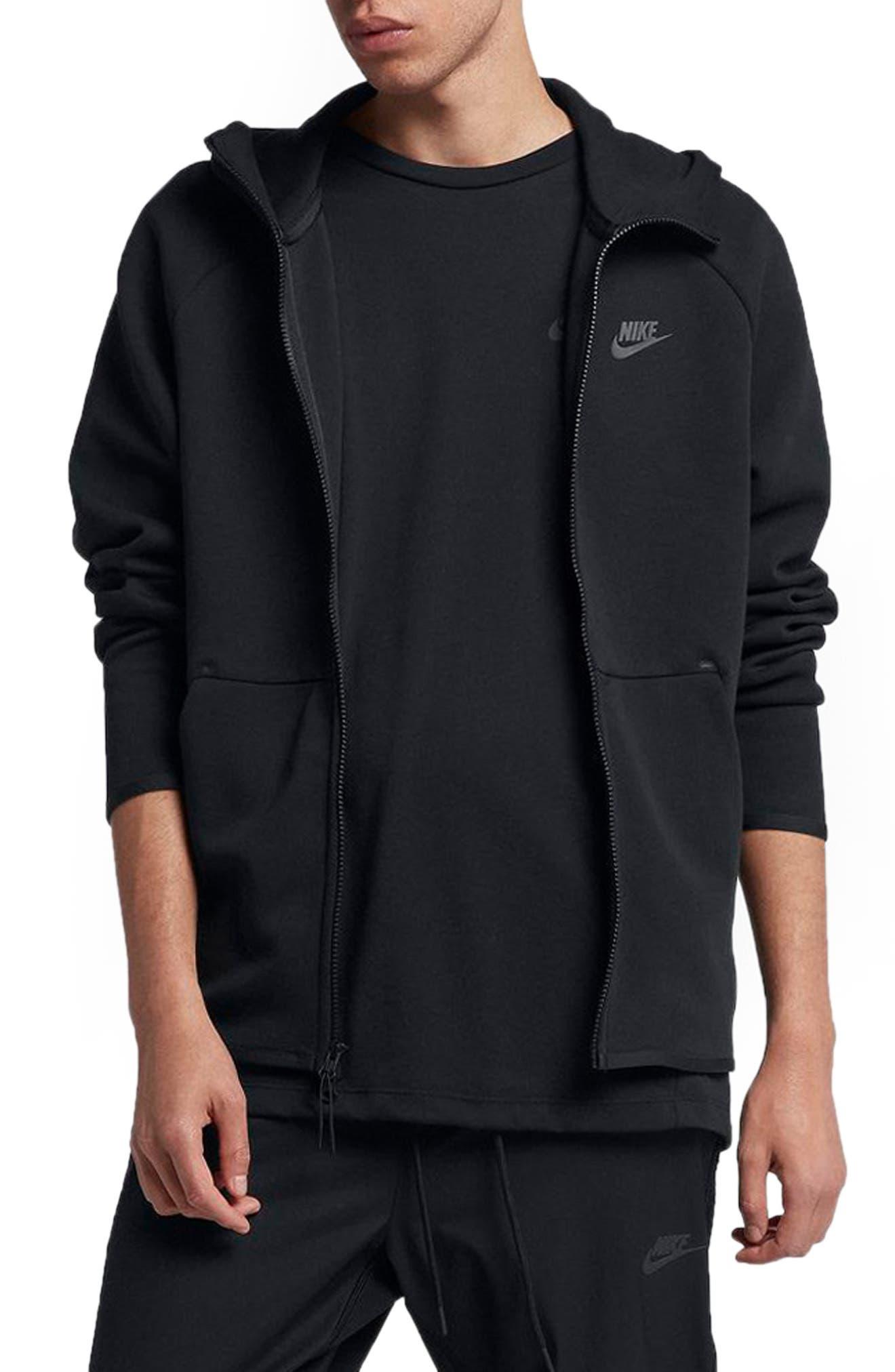 Sportswear Tech Fleece Zip Hoodie,                             Main thumbnail 1, color,                             BLACK/ BLACK