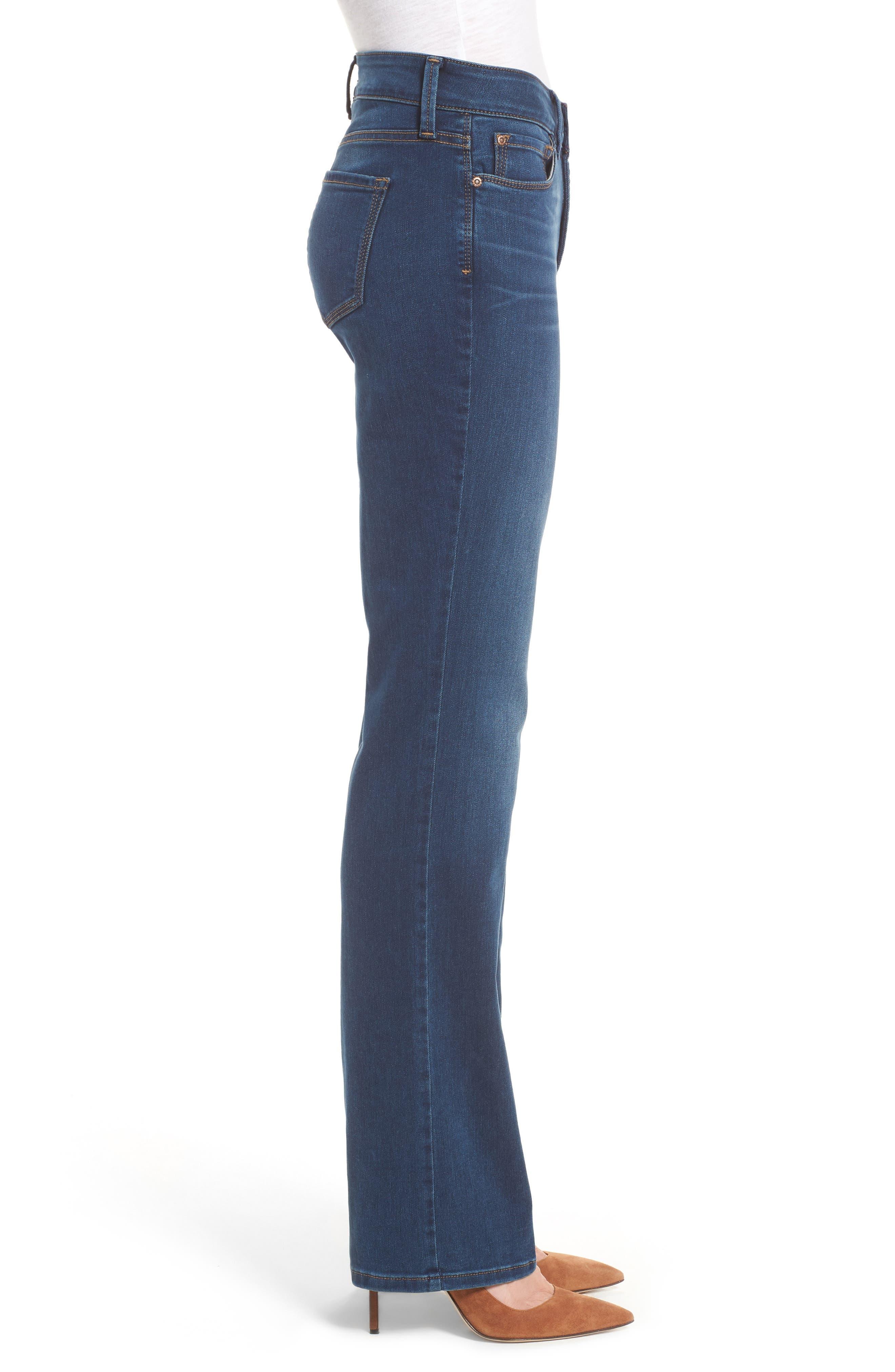 Marilyn Stretch Straight Leg Jeans,                             Alternate thumbnail 3, color,                             SEA BREEZE
