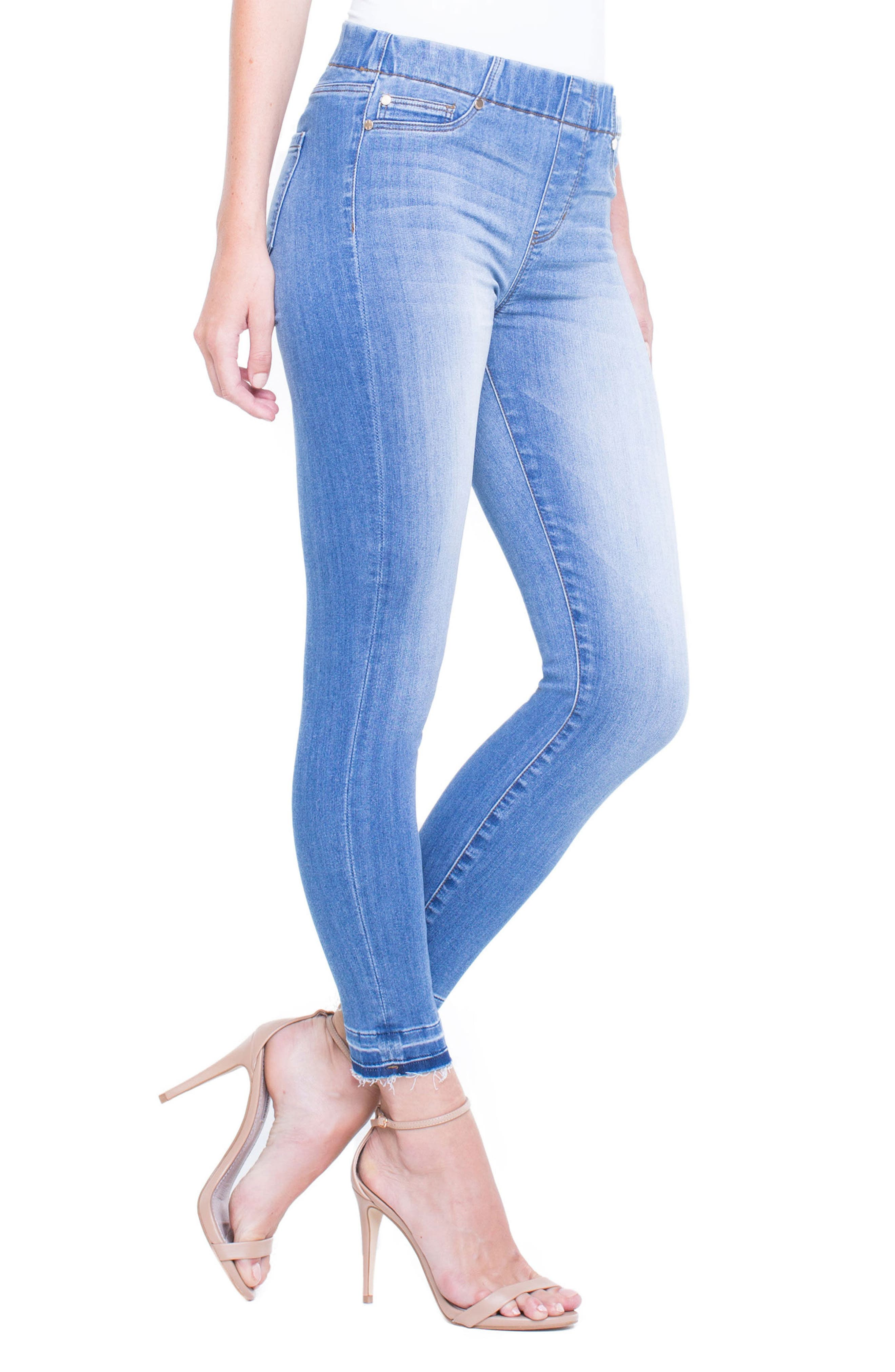 Chloe Release Hem Denim Leggings,                             Alternate thumbnail 3, color,                             RIDGEWAY GRIND