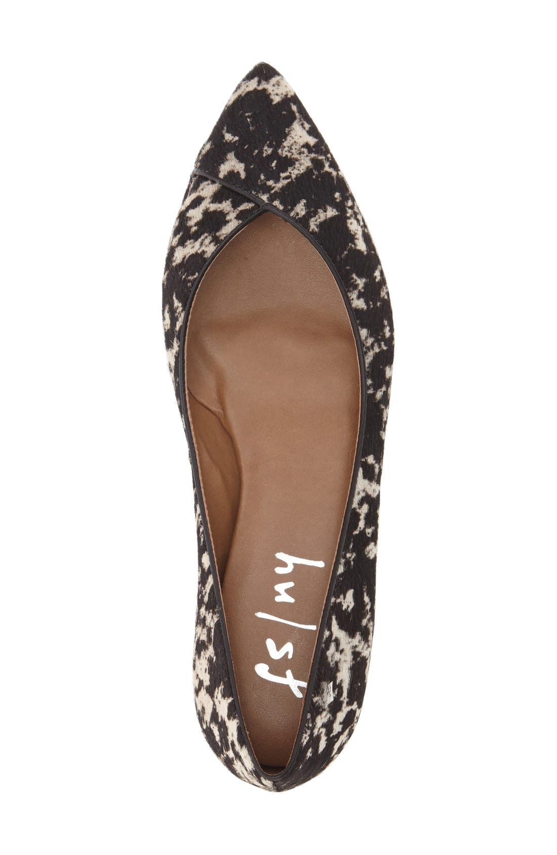 FRENCH SOLE,                             'Peppy' Pointy Toe Ballet Flat,                             Alternate thumbnail 2, color,                             005