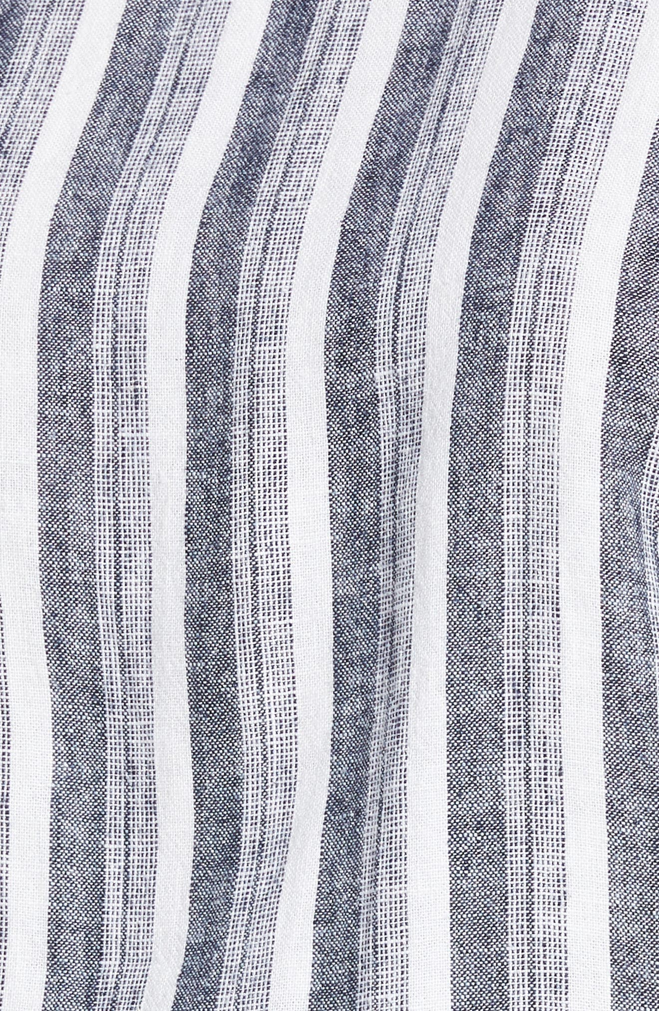 Shore Stripe Linen Blend Jumpsuit,                             Alternate thumbnail 5, color,                             145