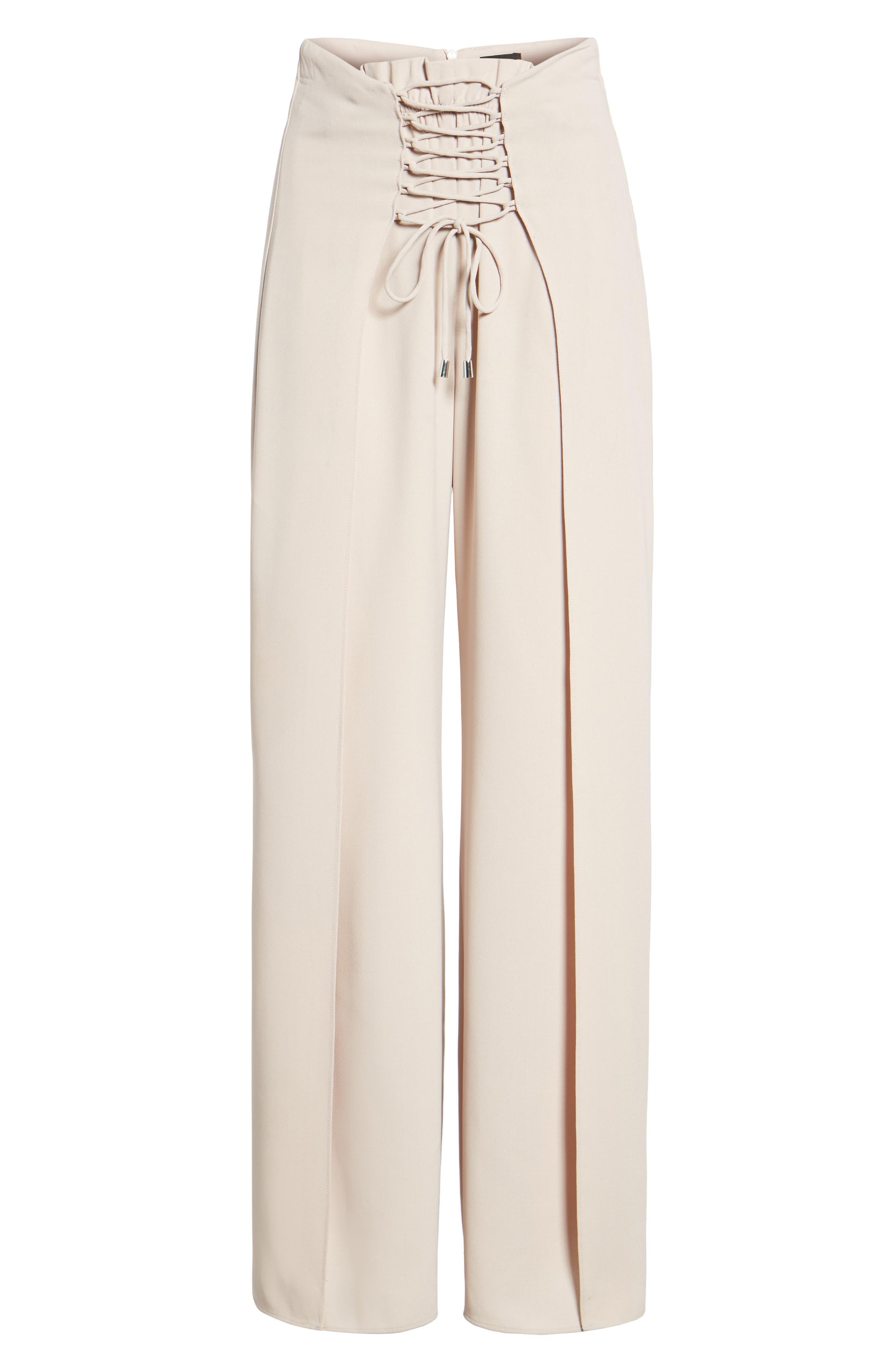 Corset Wide Leg Trousers,                             Alternate thumbnail 6, color,                             270
