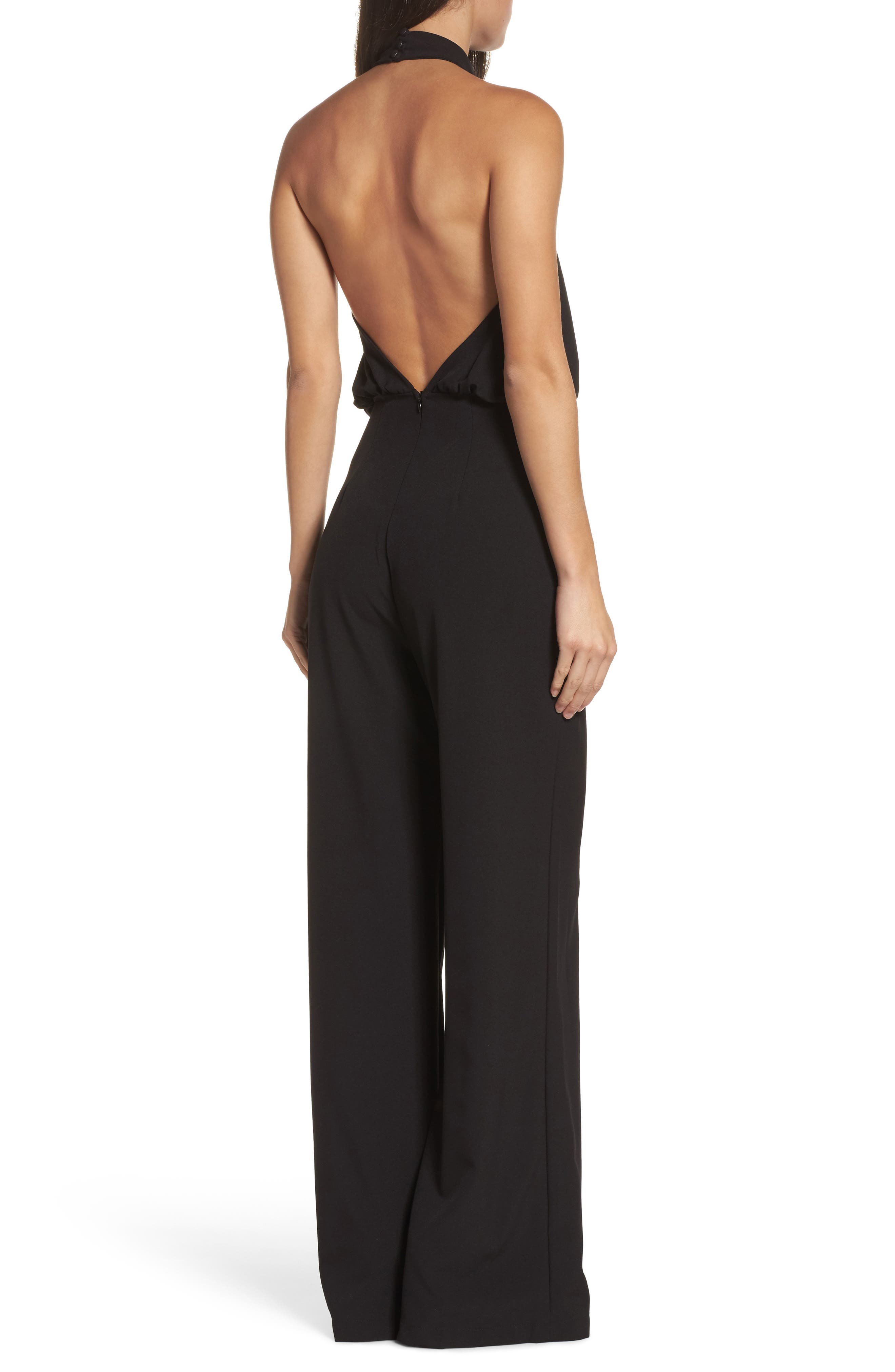 Moment for Life Halter Jumpsuit,                             Alternate thumbnail 2, color,                             BLACK