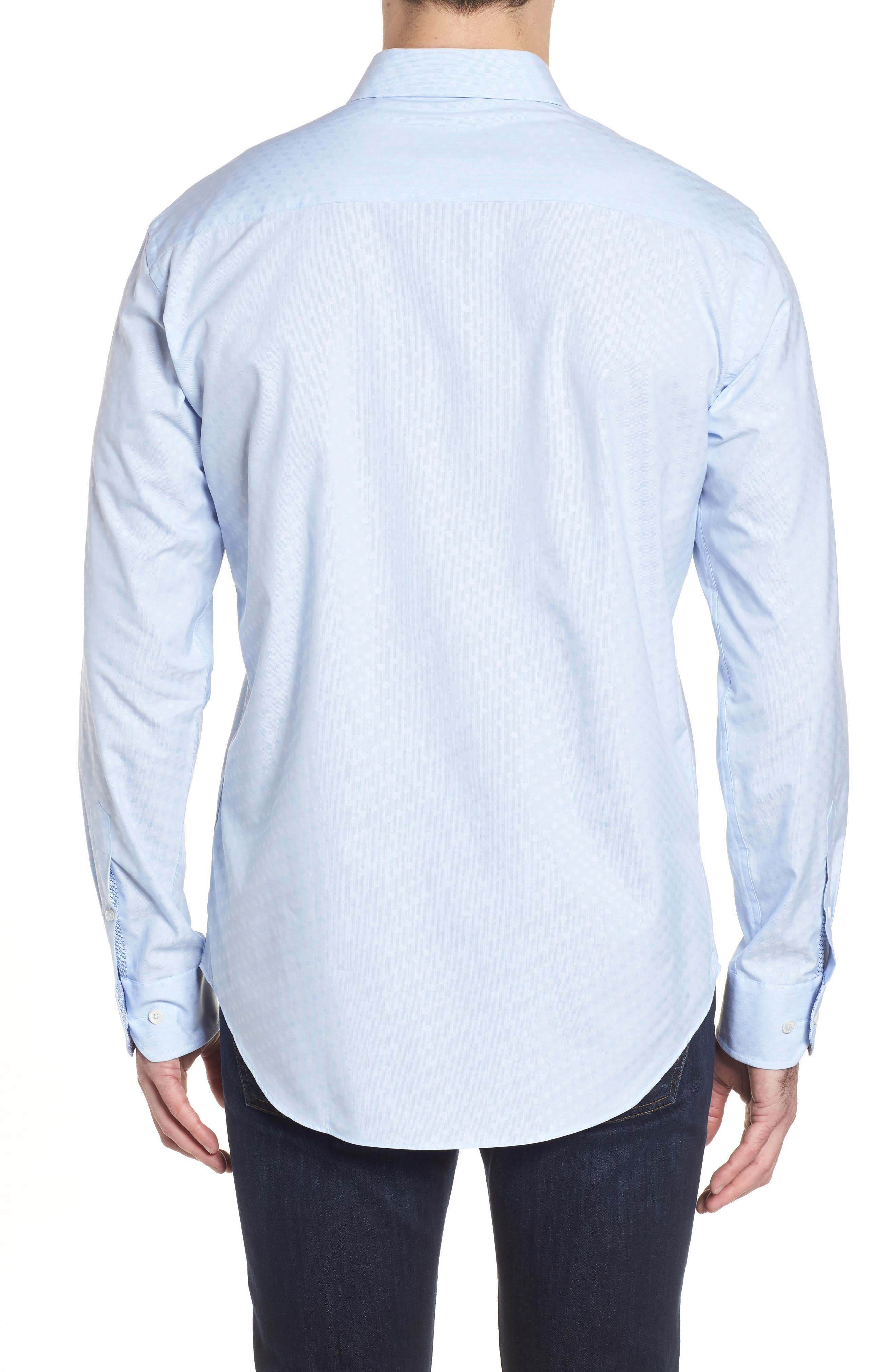 Shaped Fit Tonal Dots Sport Shirt,                             Alternate thumbnail 2, color,                             459