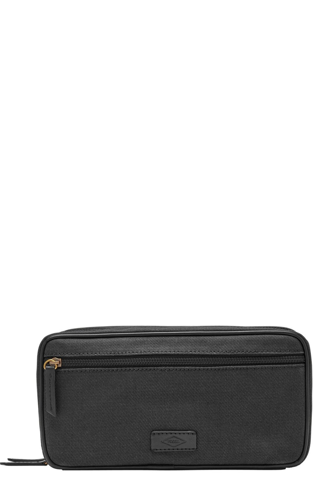Canvas Travel Kit,                         Main,                         color, 001