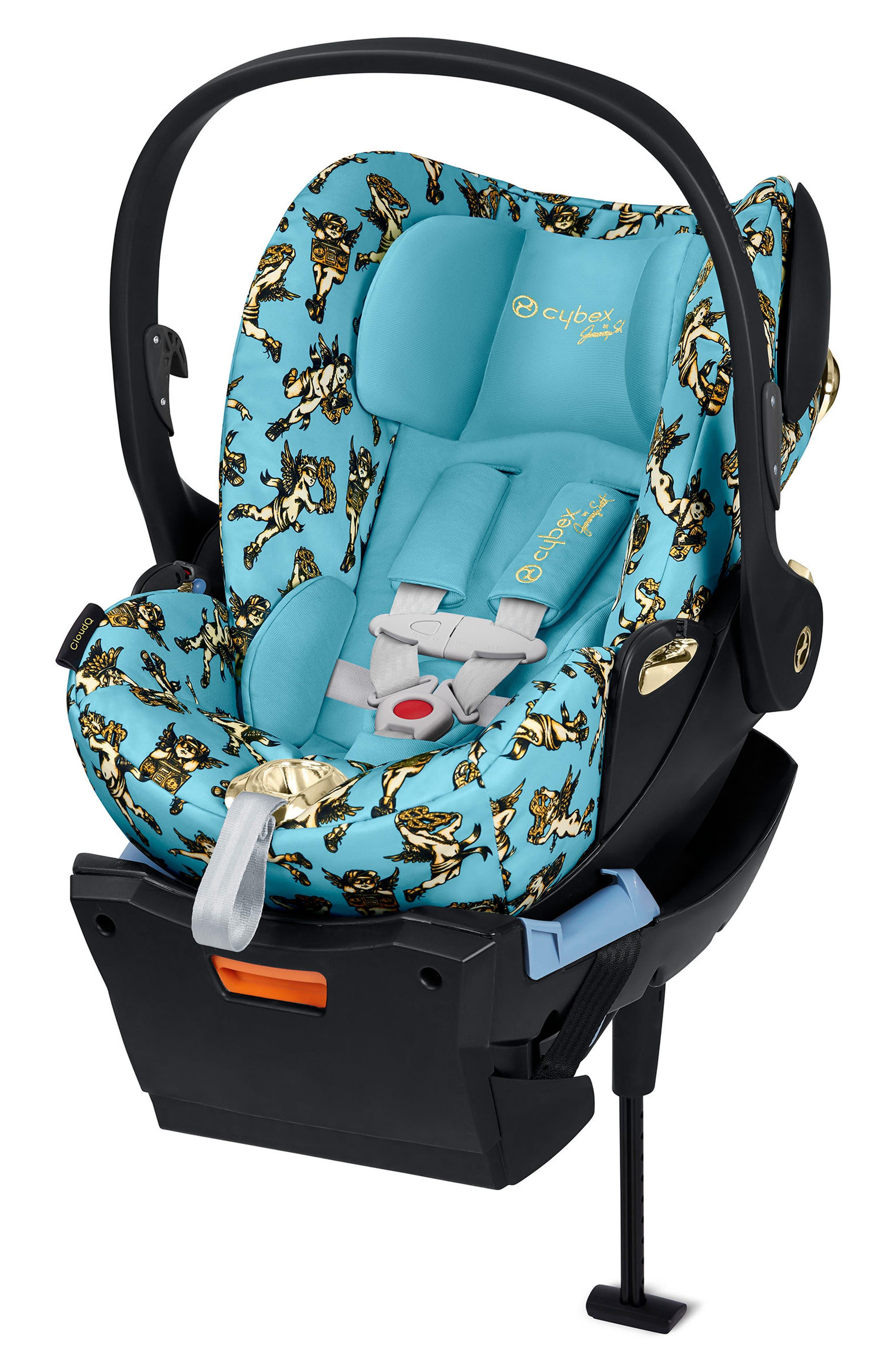 x Jeremy Scott Cherubs Cloud Q Infant Car Seat & Base,                             Main thumbnail 1, color,                             BLUE