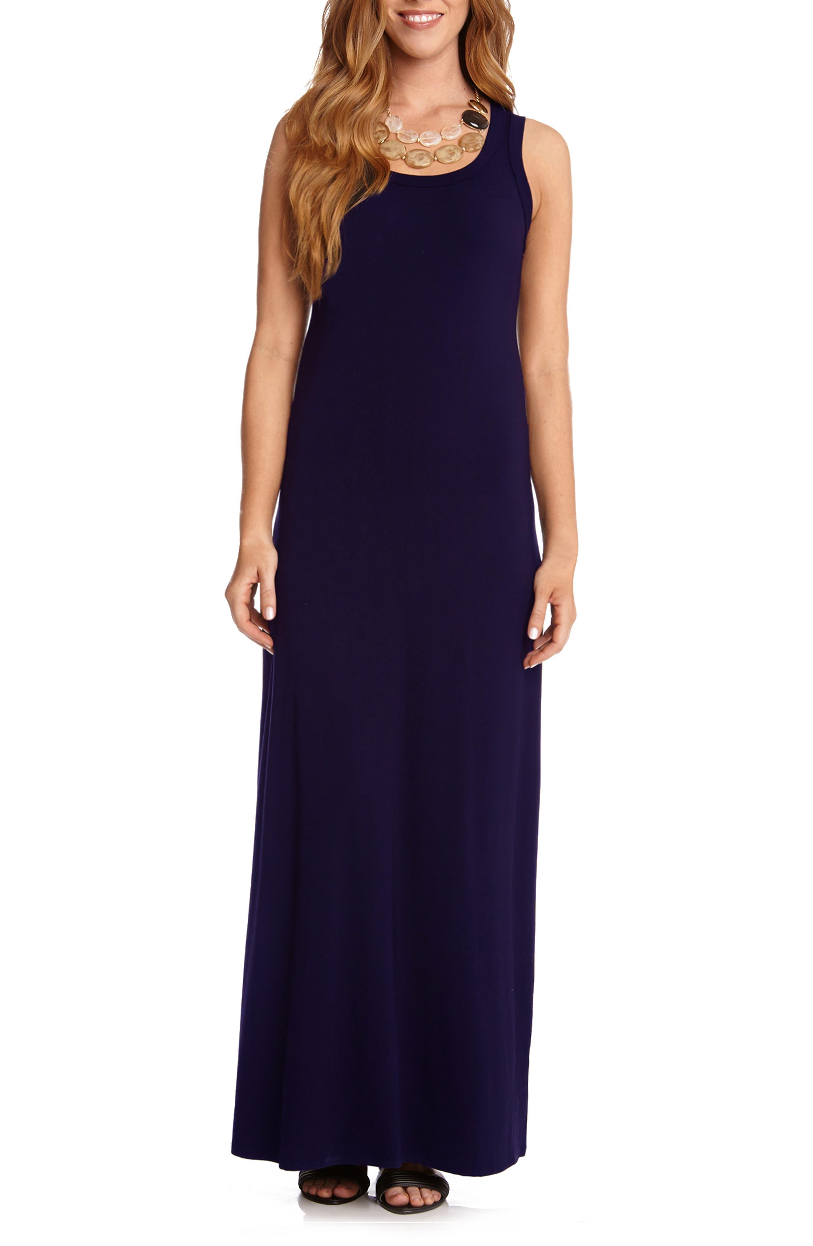 Karen Kane Maxi Tank Dress, Blue