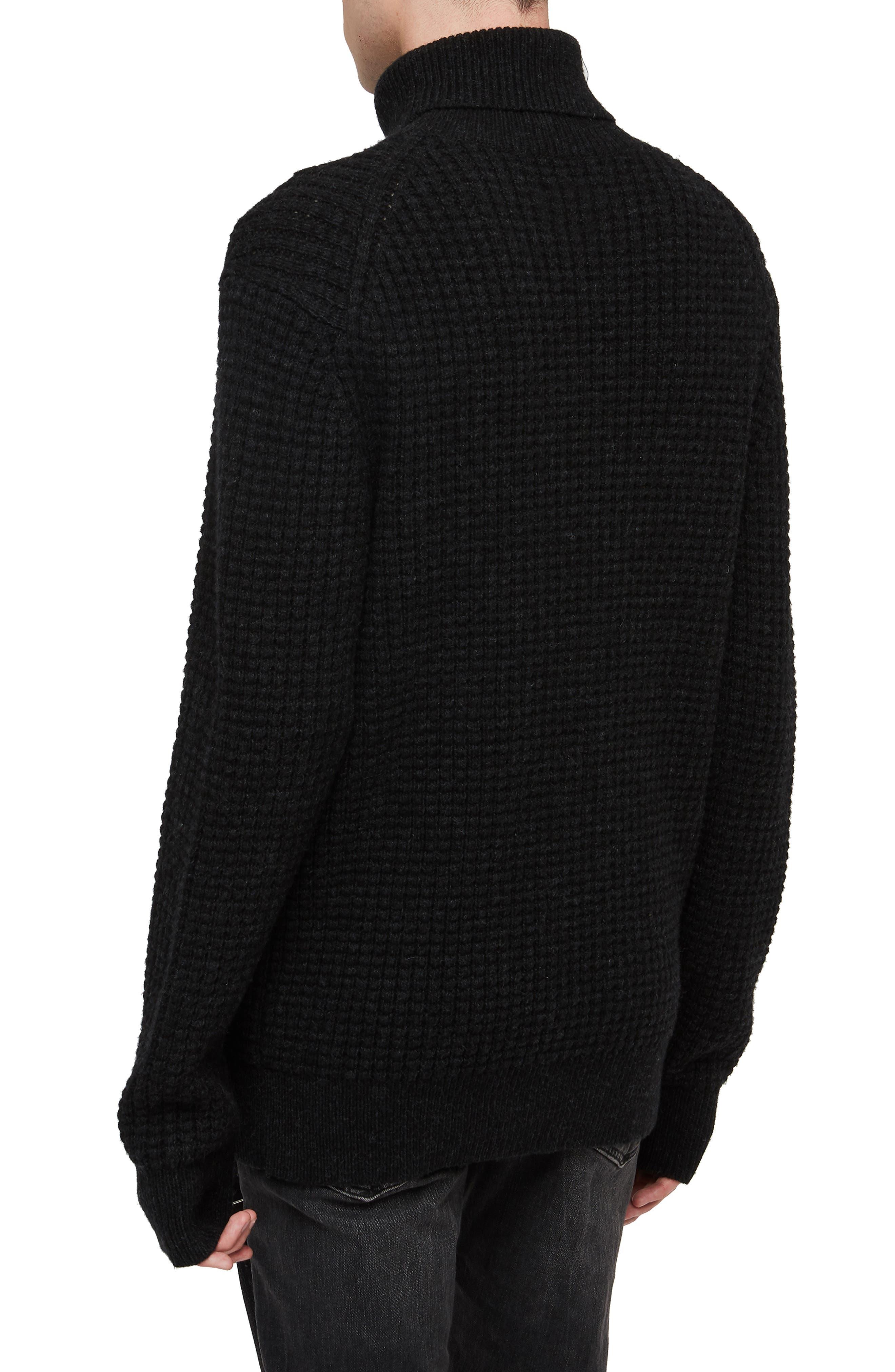Mast Slim Fit Funnel Neck Sweater,                             Alternate thumbnail 2, color,                             CINDER BLACK MARL