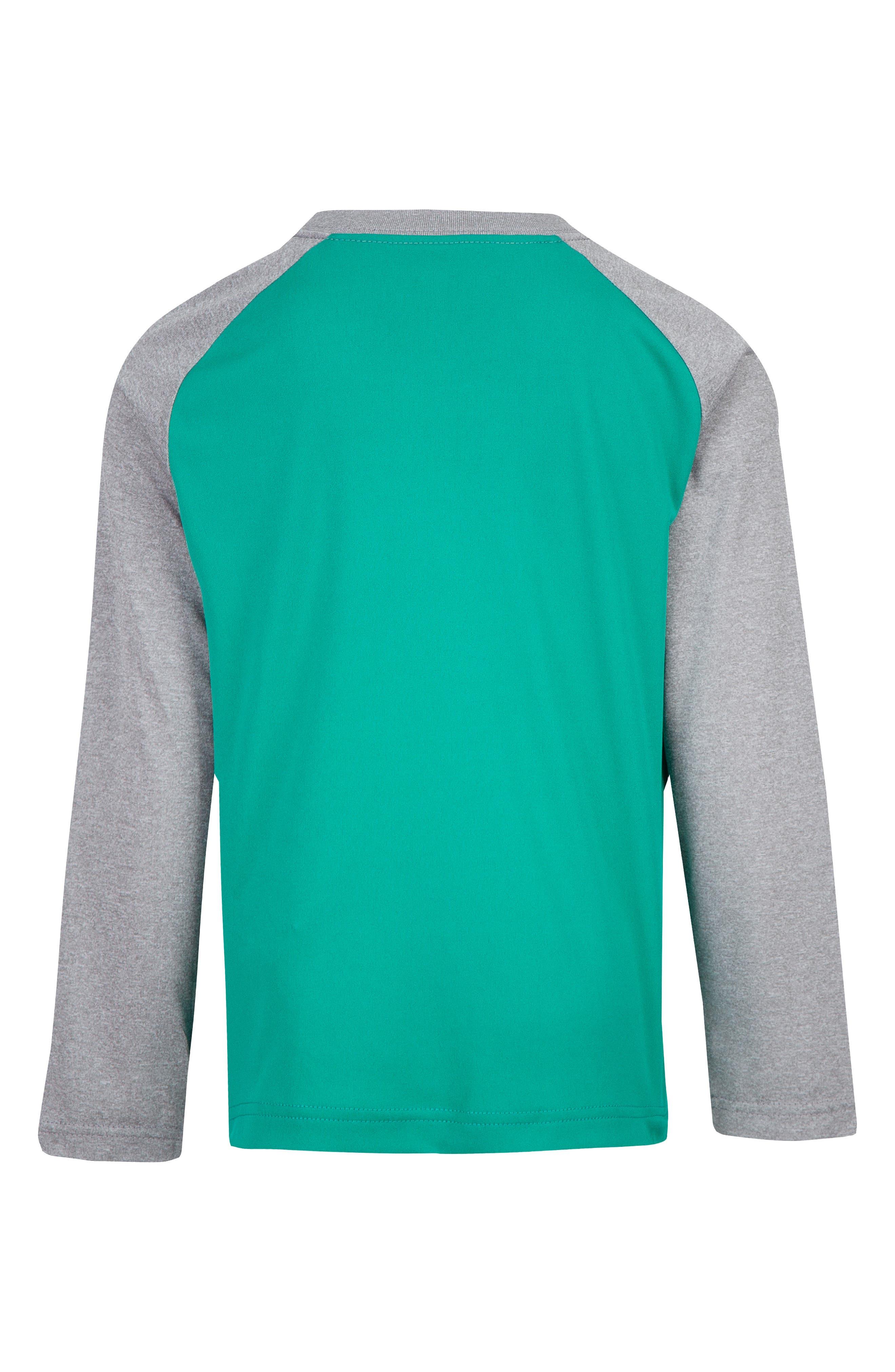 Dry Way Too Fast Raglan T-Shirt,                             Alternate thumbnail 2, color,                             NEPTUNE GREEN