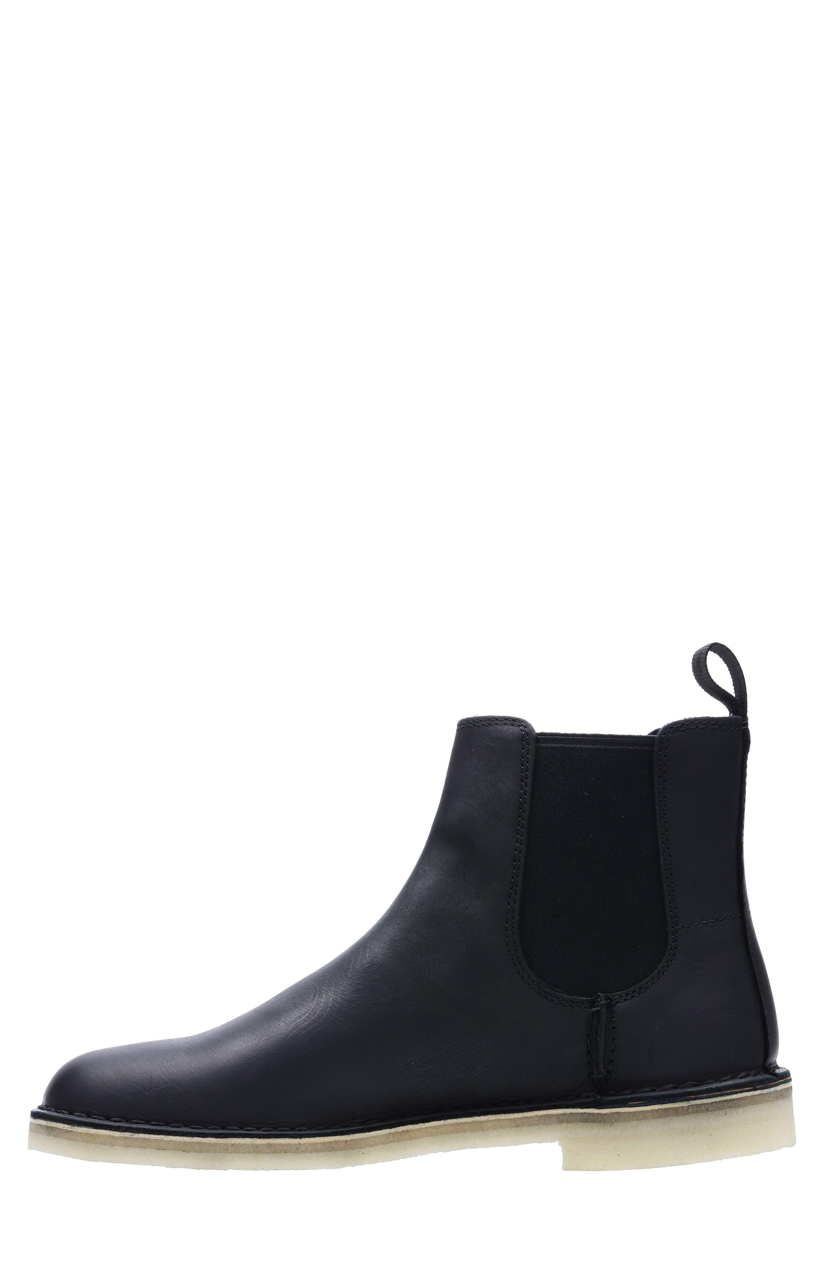 Desert Peak Chelsea Boot,                             Alternate thumbnail 6, color,                             BLACK/BLACK LEATHER
