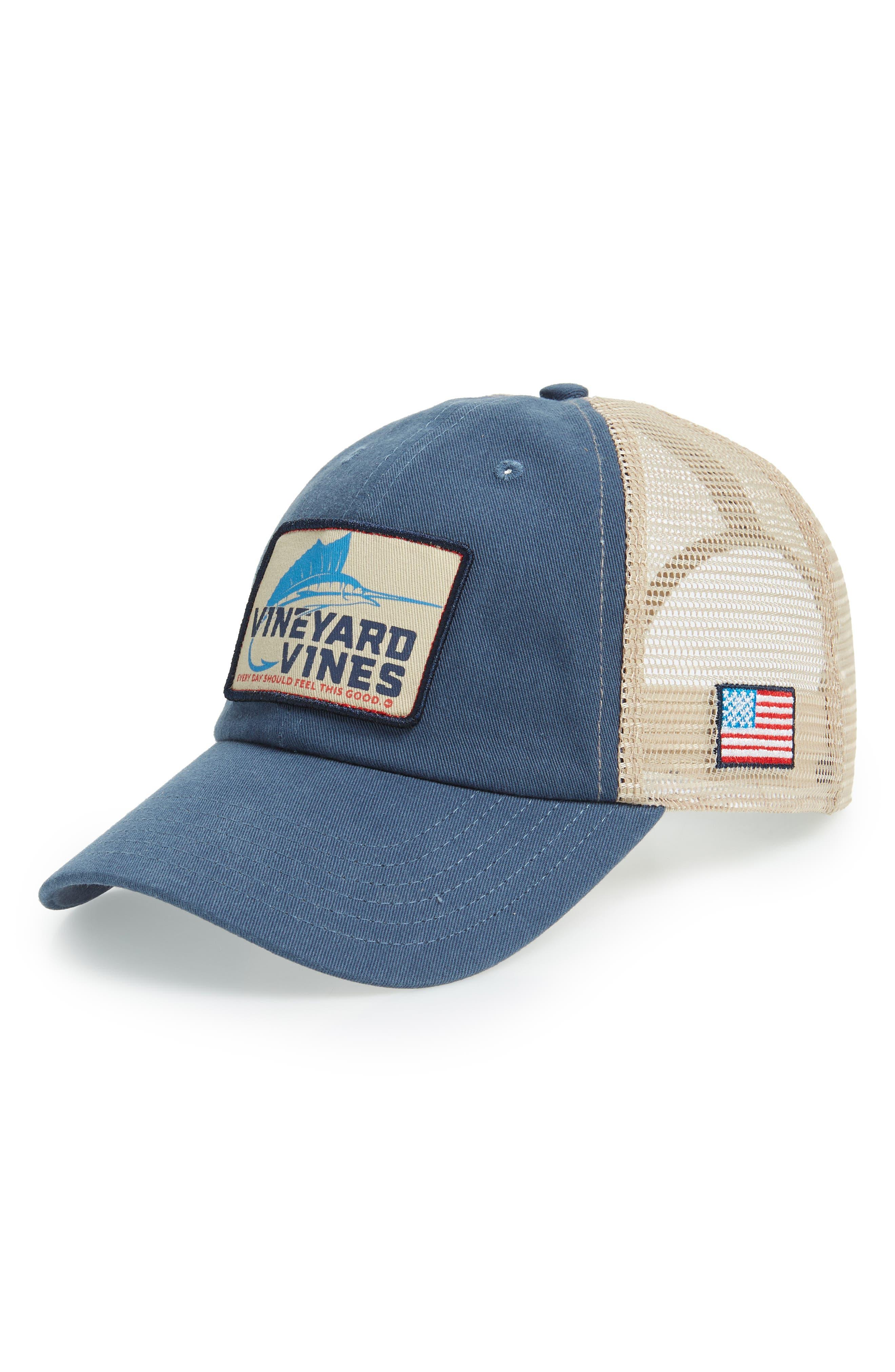 Marlin Patch Trucker Cap,                         Main,                         color, 461