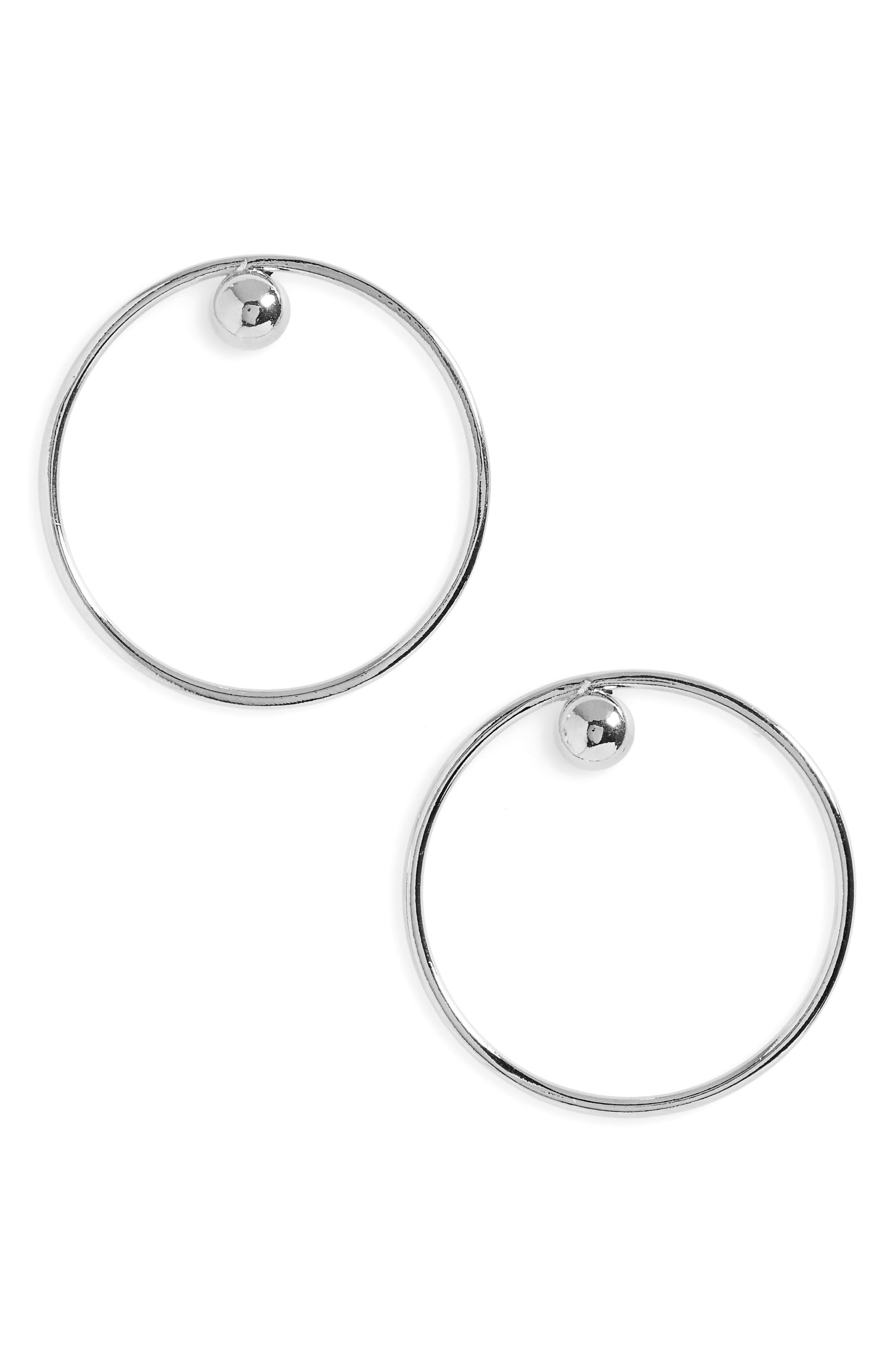 Dot Frontal Hoop Earrings,                             Main thumbnail 1, color,                             040