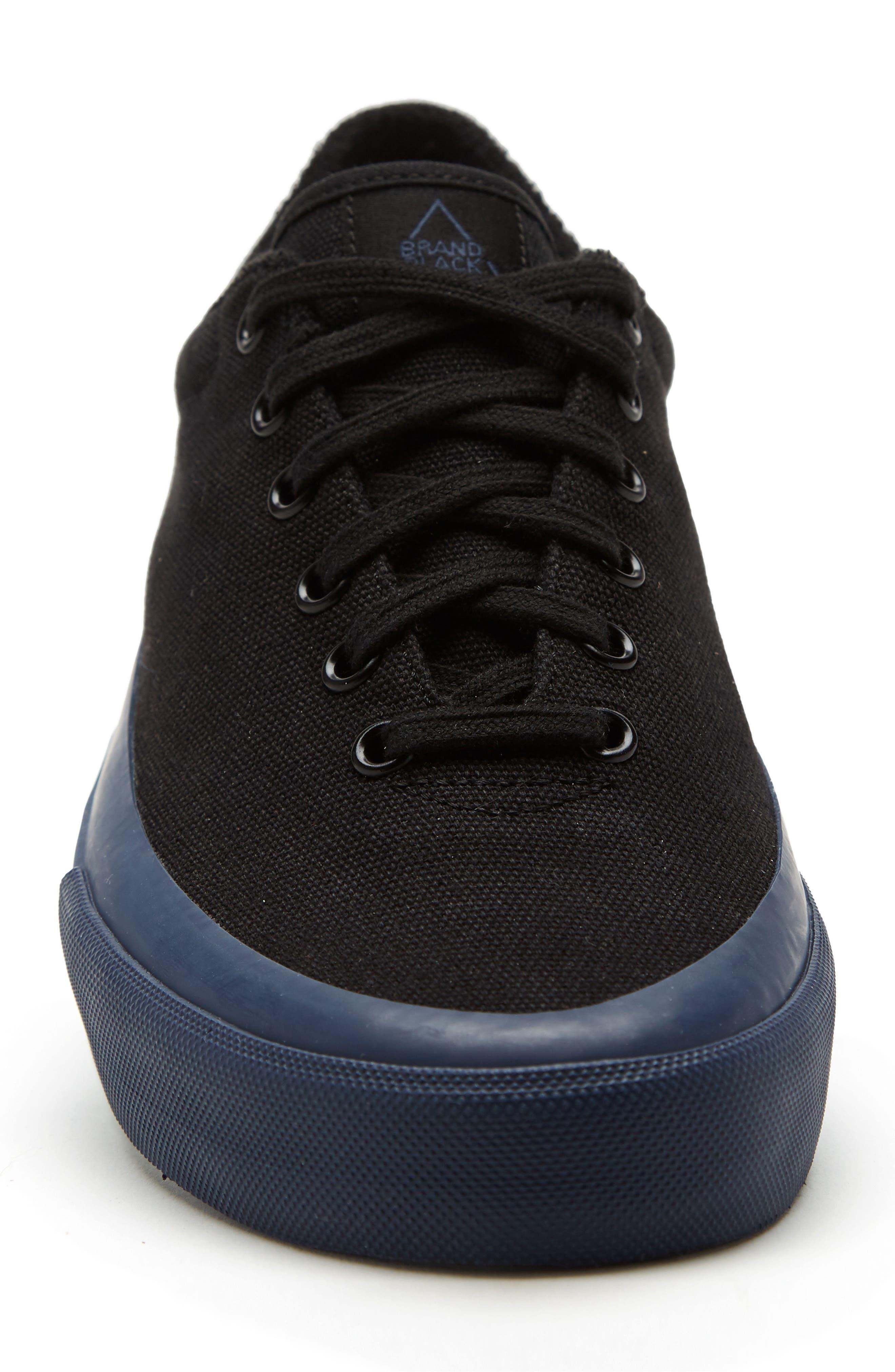 Vesta Low Top Sneaker,                             Alternate thumbnail 4, color,                             BLACK/ NAVY