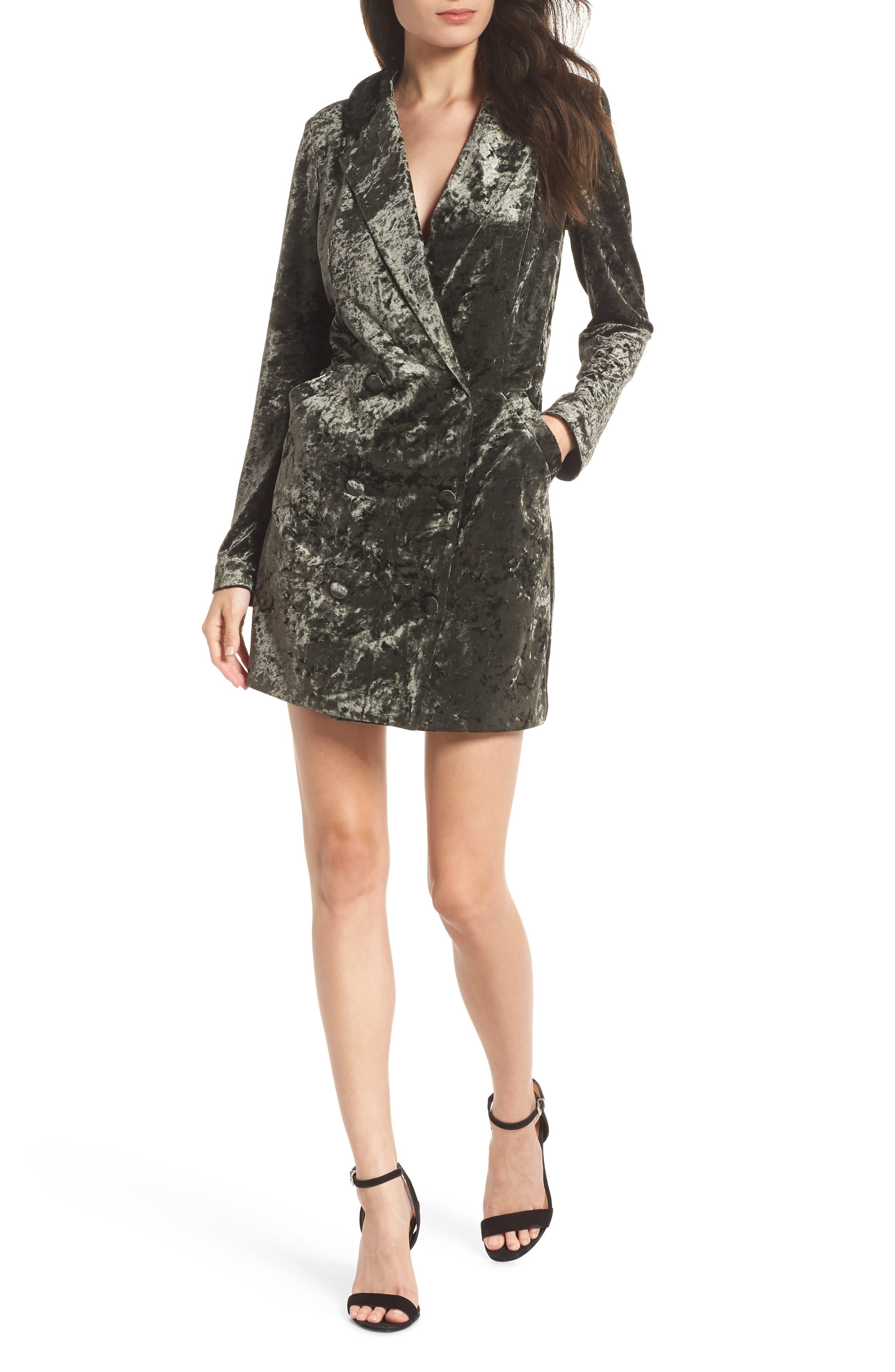 Ali & Jay Hello Romeo Velvet Coat Minidress