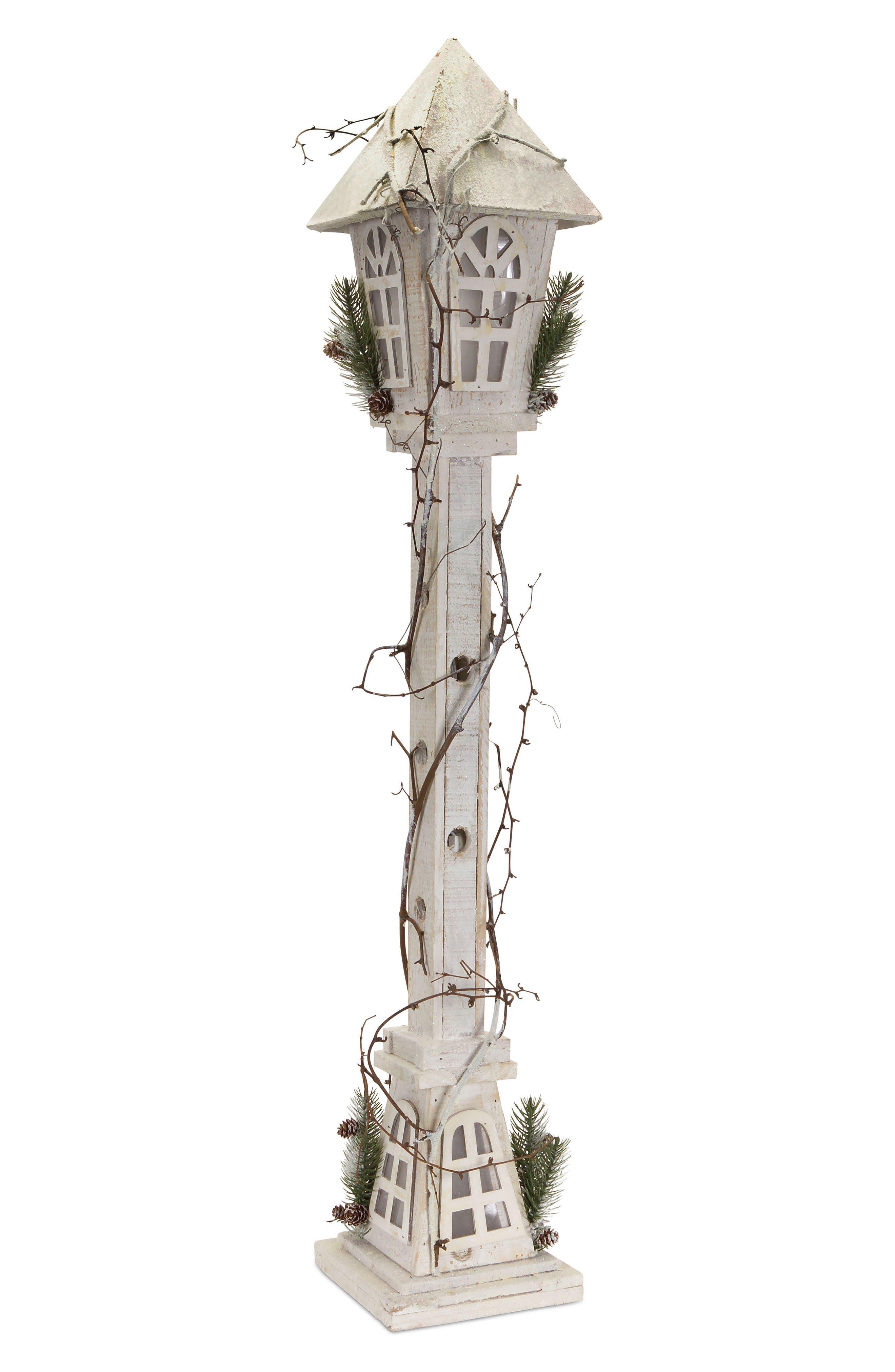 Light-Up Birdhouse Lamp Post,                             Main thumbnail 1, color,