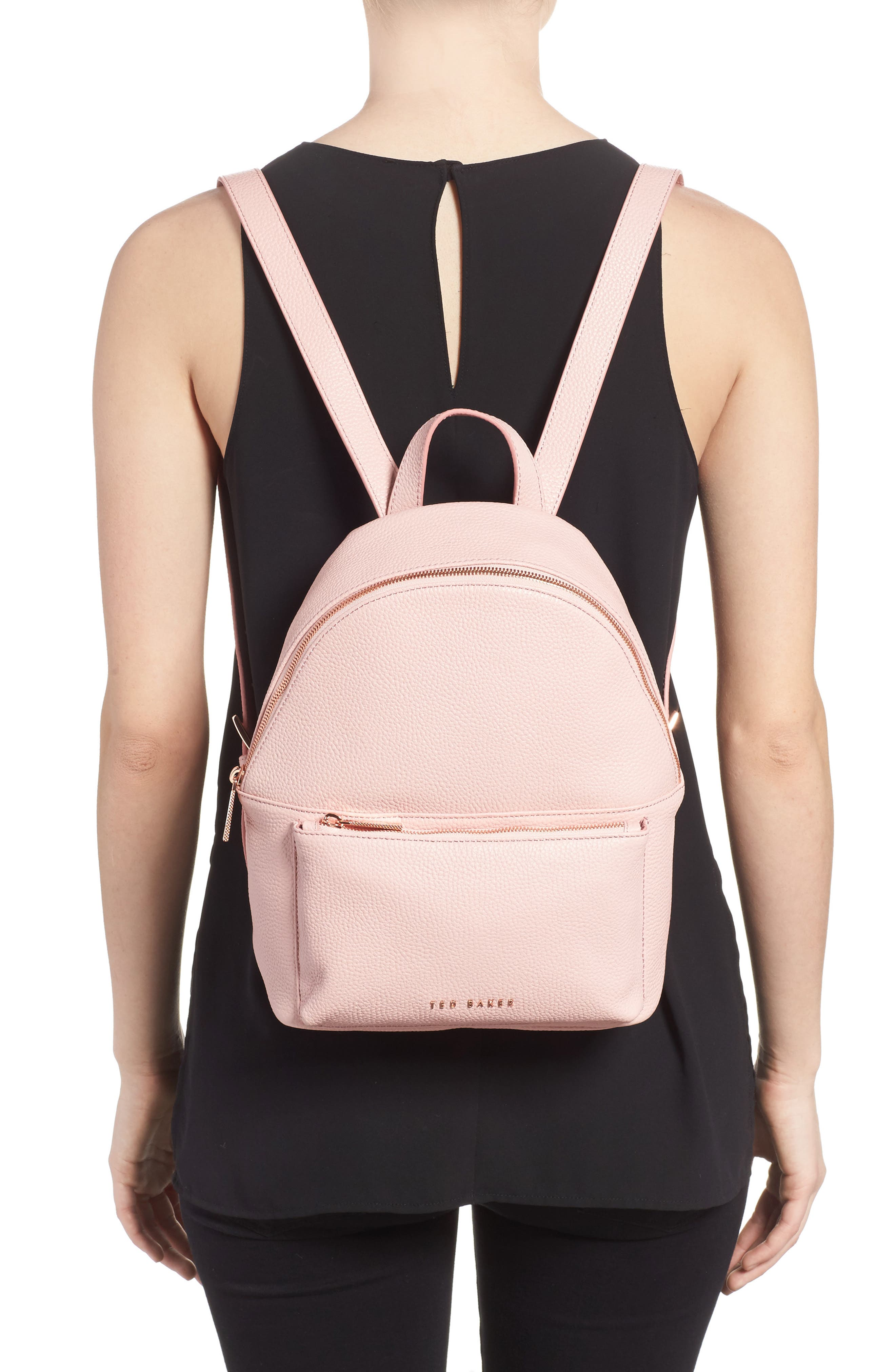 Pearen Leather Backpack,                             Alternate thumbnail 9, color,