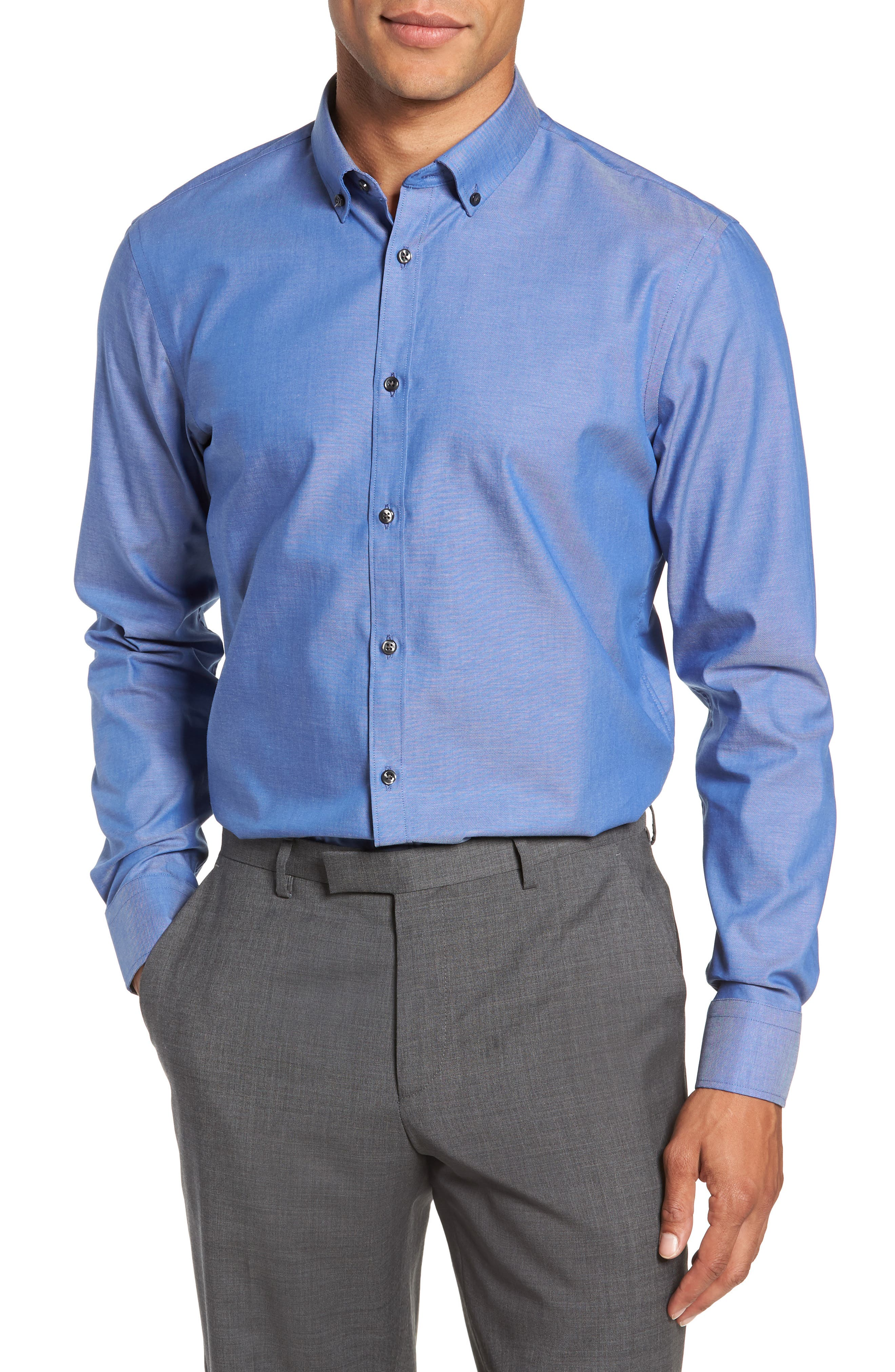 Extra Trim Fit Non-Iron Dress Shirt,                             Main thumbnail 1, color,                             420