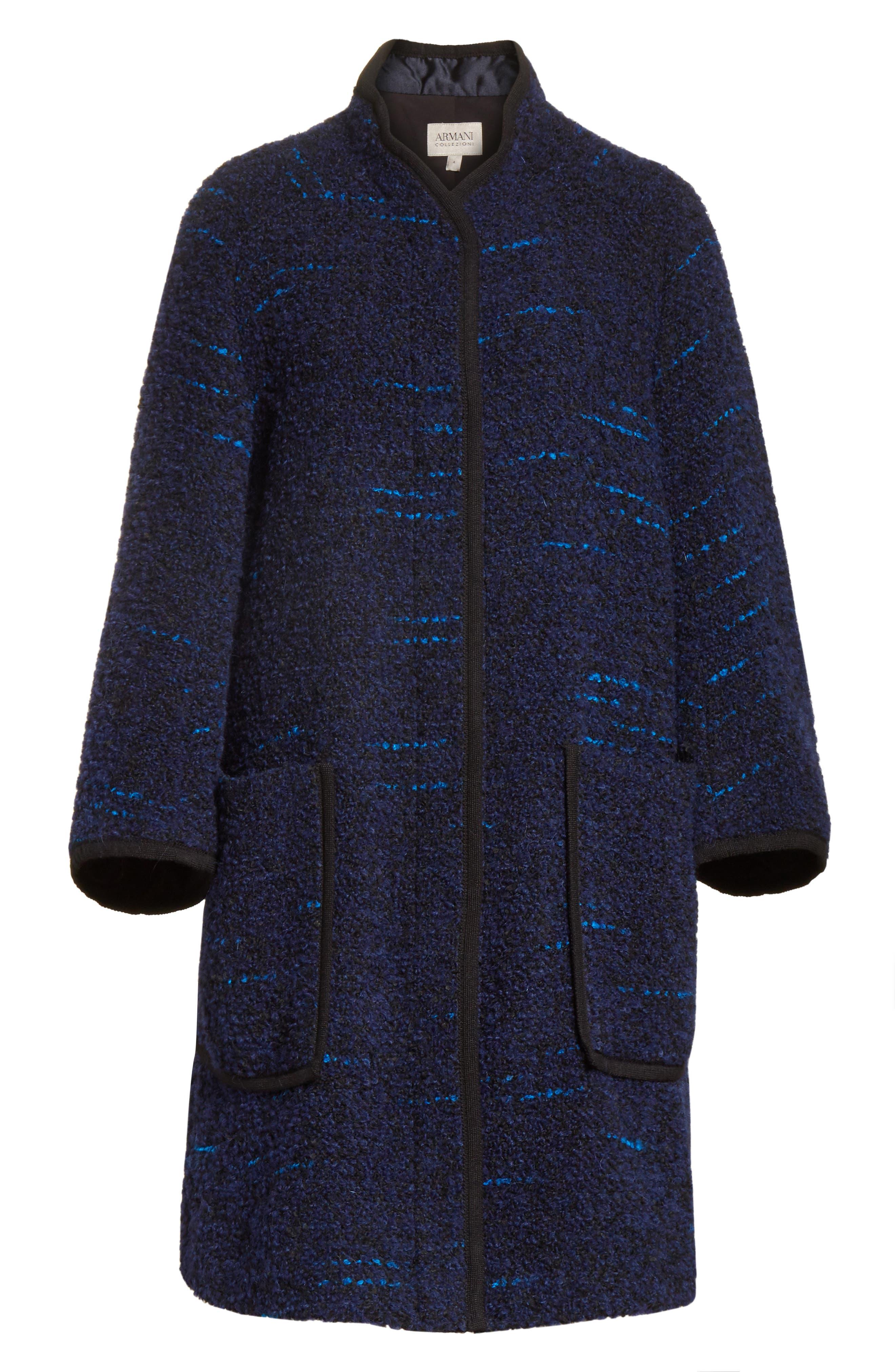 Wool Blend Swing Coat,                             Alternate thumbnail 5, color,                             400