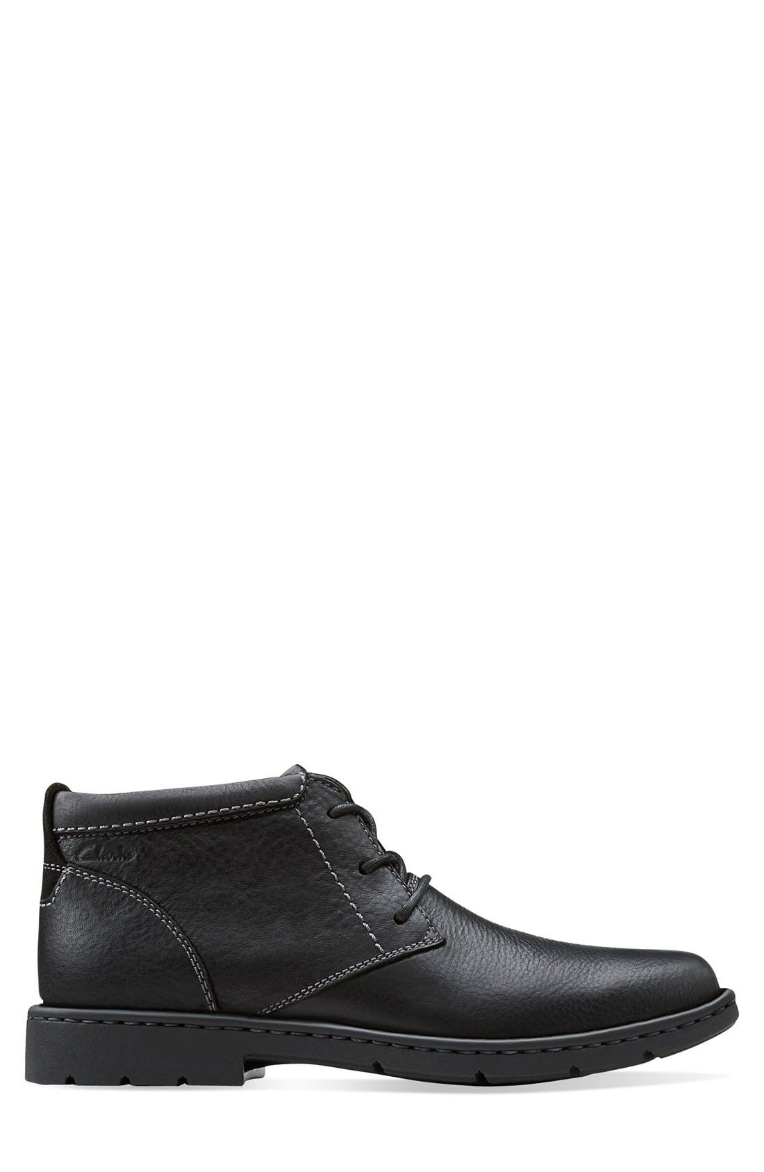 'Stratton - Limit' Plain Toe Boot,                             Alternate thumbnail 2, color,                             001