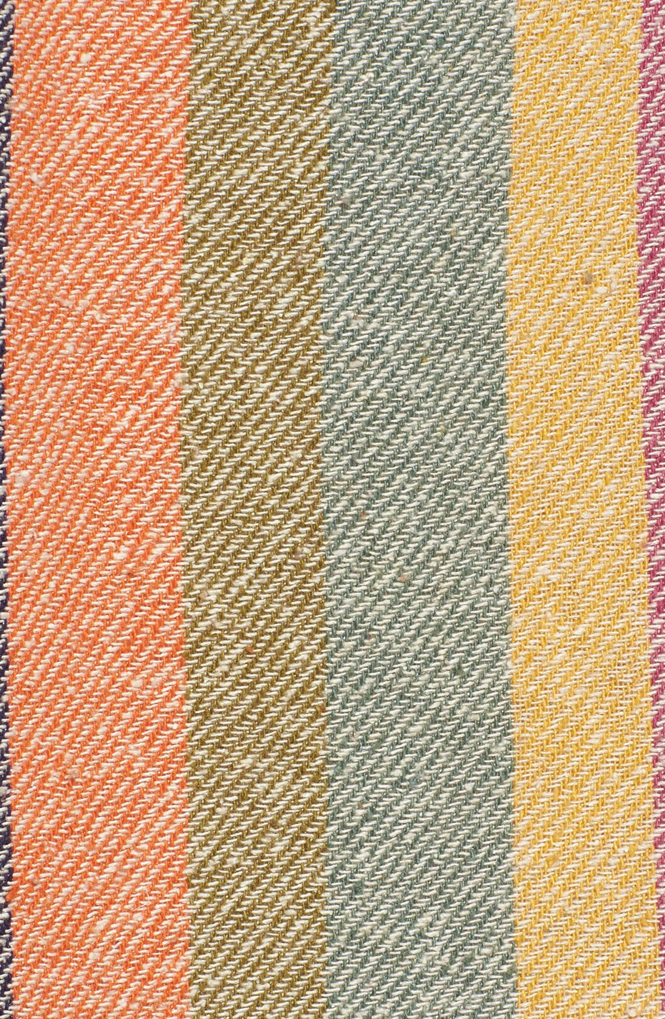 Rainbow Stripe Silk & Cotton Cape Scarf,                             Alternate thumbnail 5, color,                             650