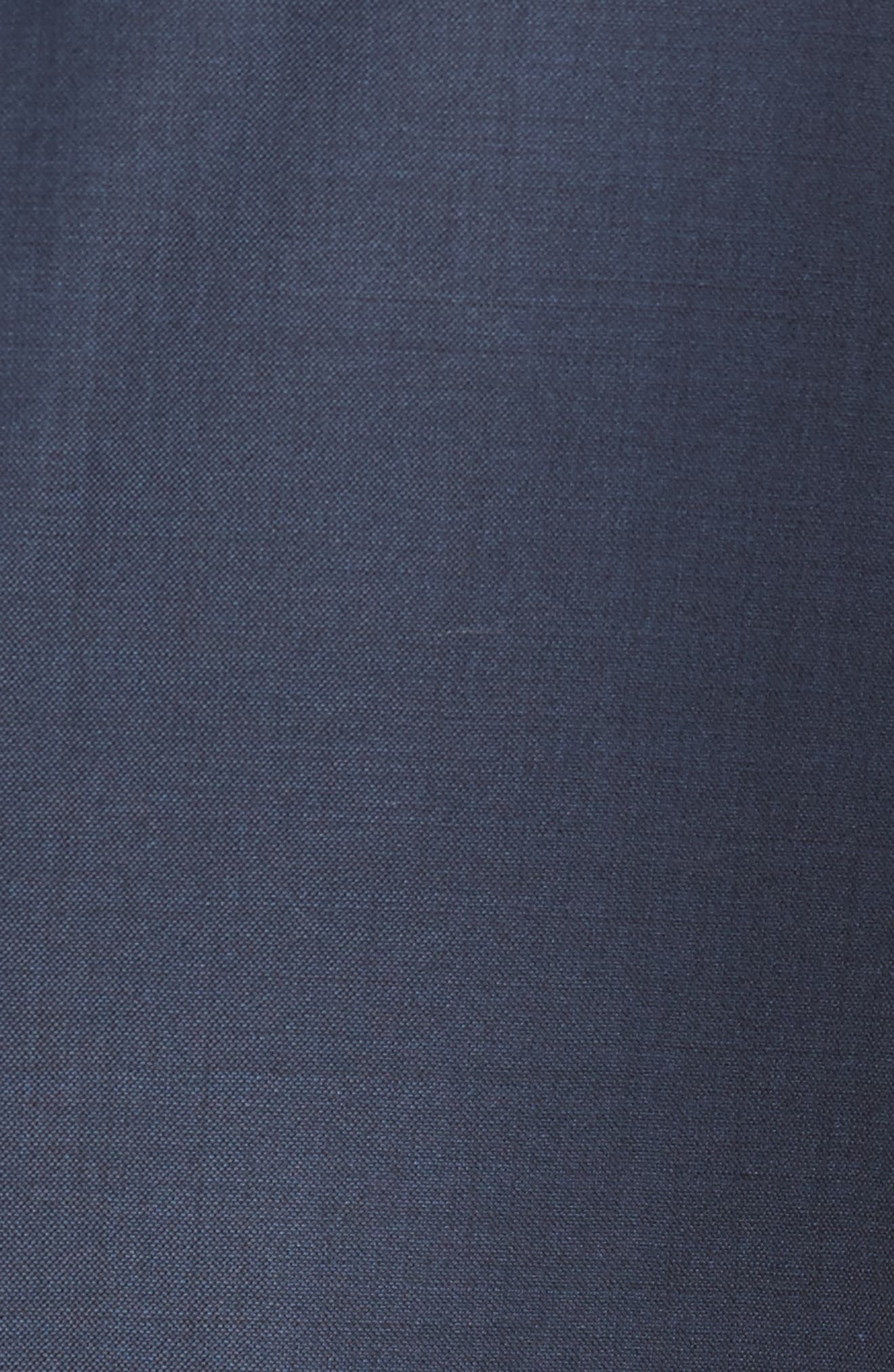 Classic B Fit Solid Loro Piana Wool Suit,                             Alternate thumbnail 7, color,                             NAVY SHARKSKIN
