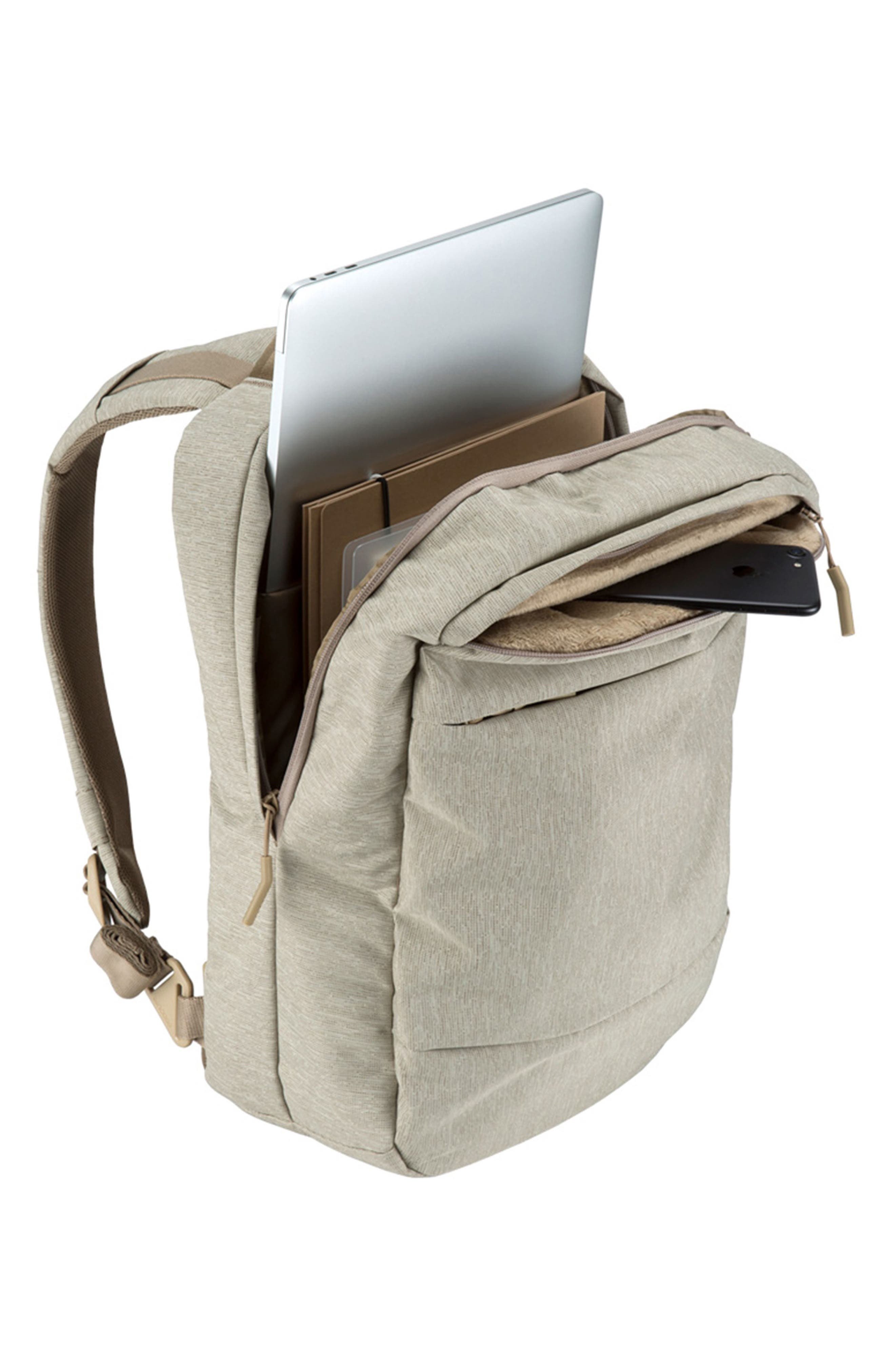 City Compact Backpack,                             Alternate thumbnail 3, color,                             HEATHER KHAKI