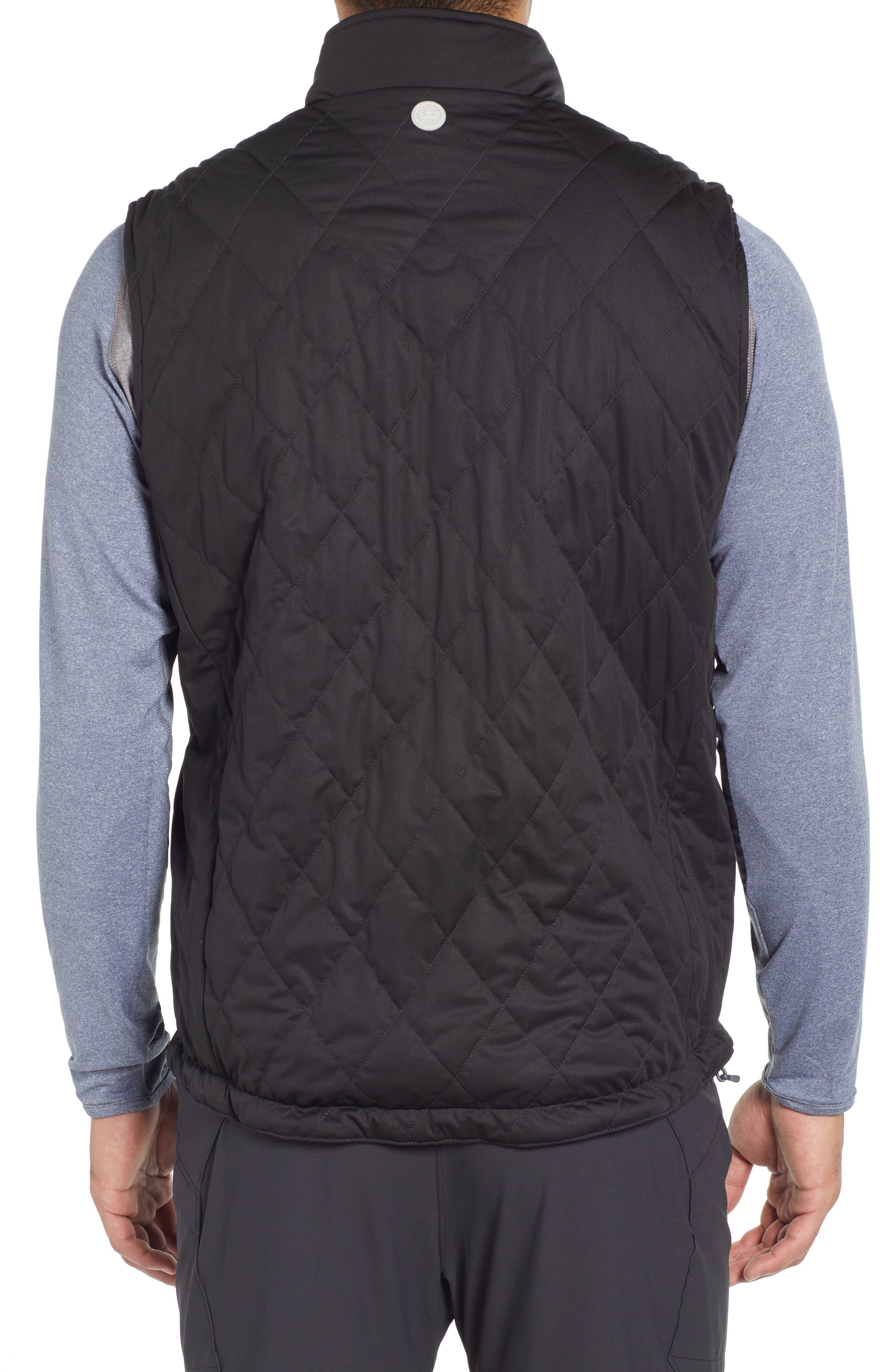 Deuce Regular Fit Reversible Quilted Vest,                             Alternate thumbnail 3, color,                             001