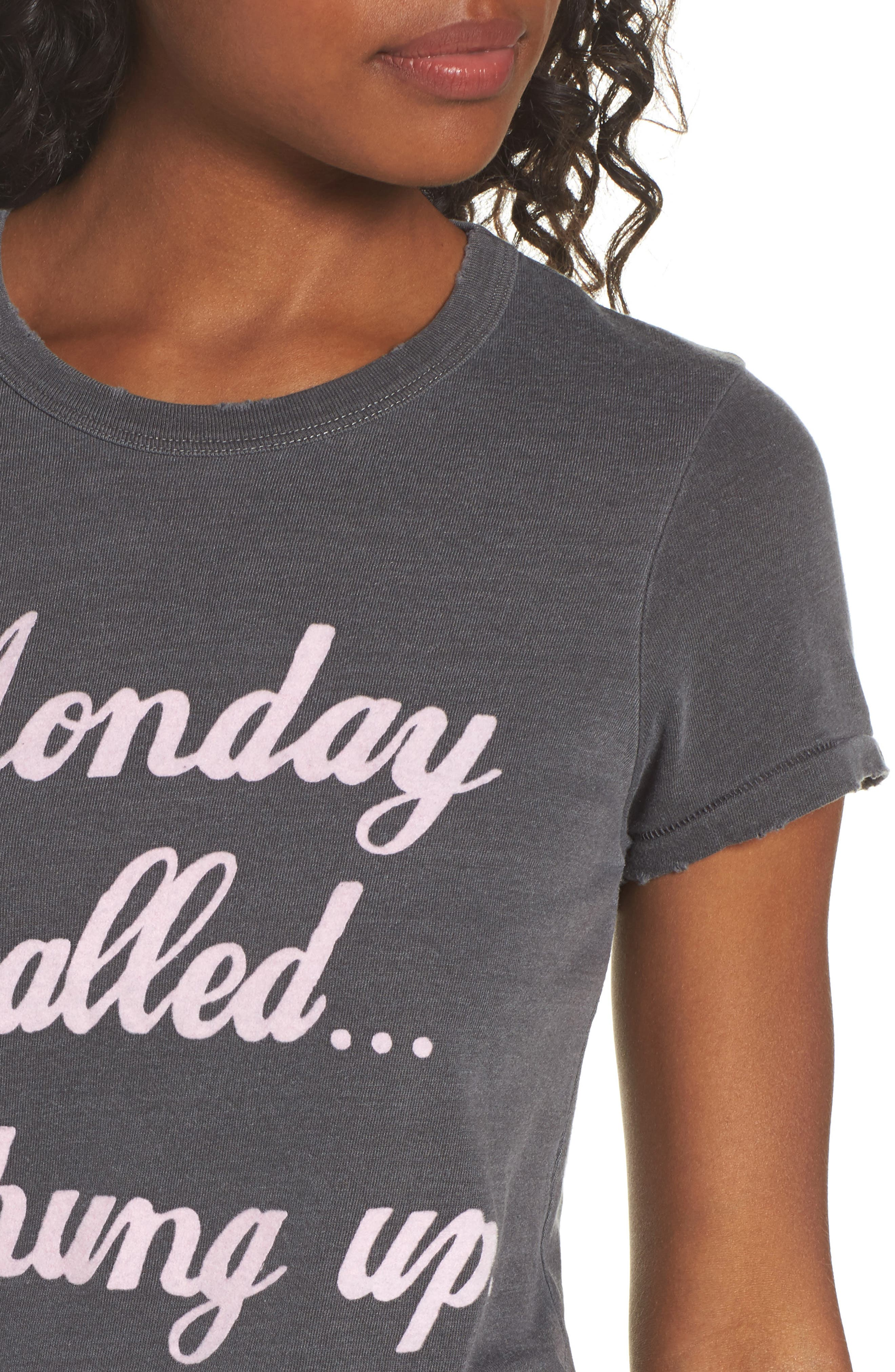 Monday Called Tee,                             Alternate thumbnail 4, color,                             088