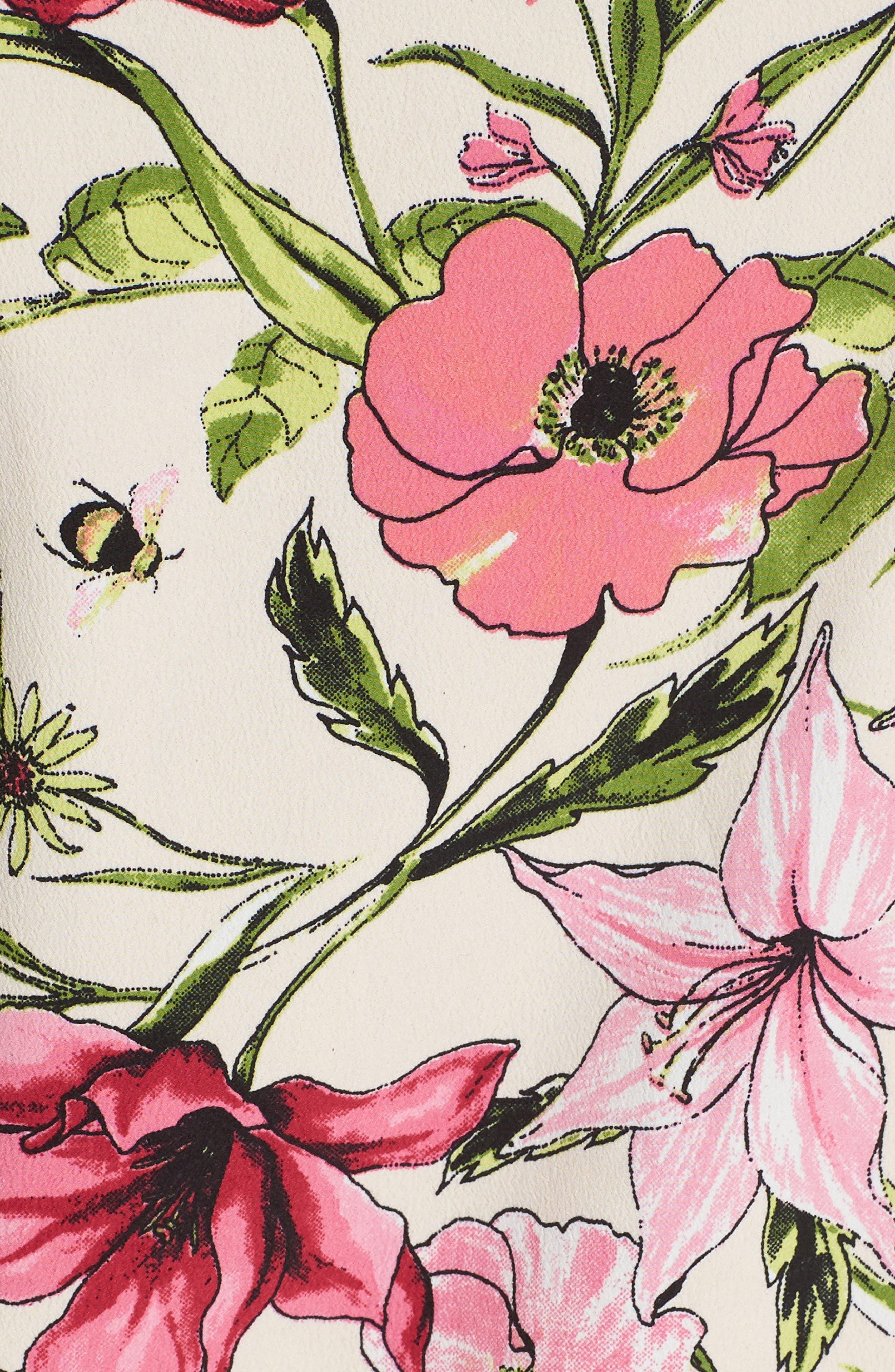 Floral Crepe Kimono,                             Alternate thumbnail 5, color,                             277