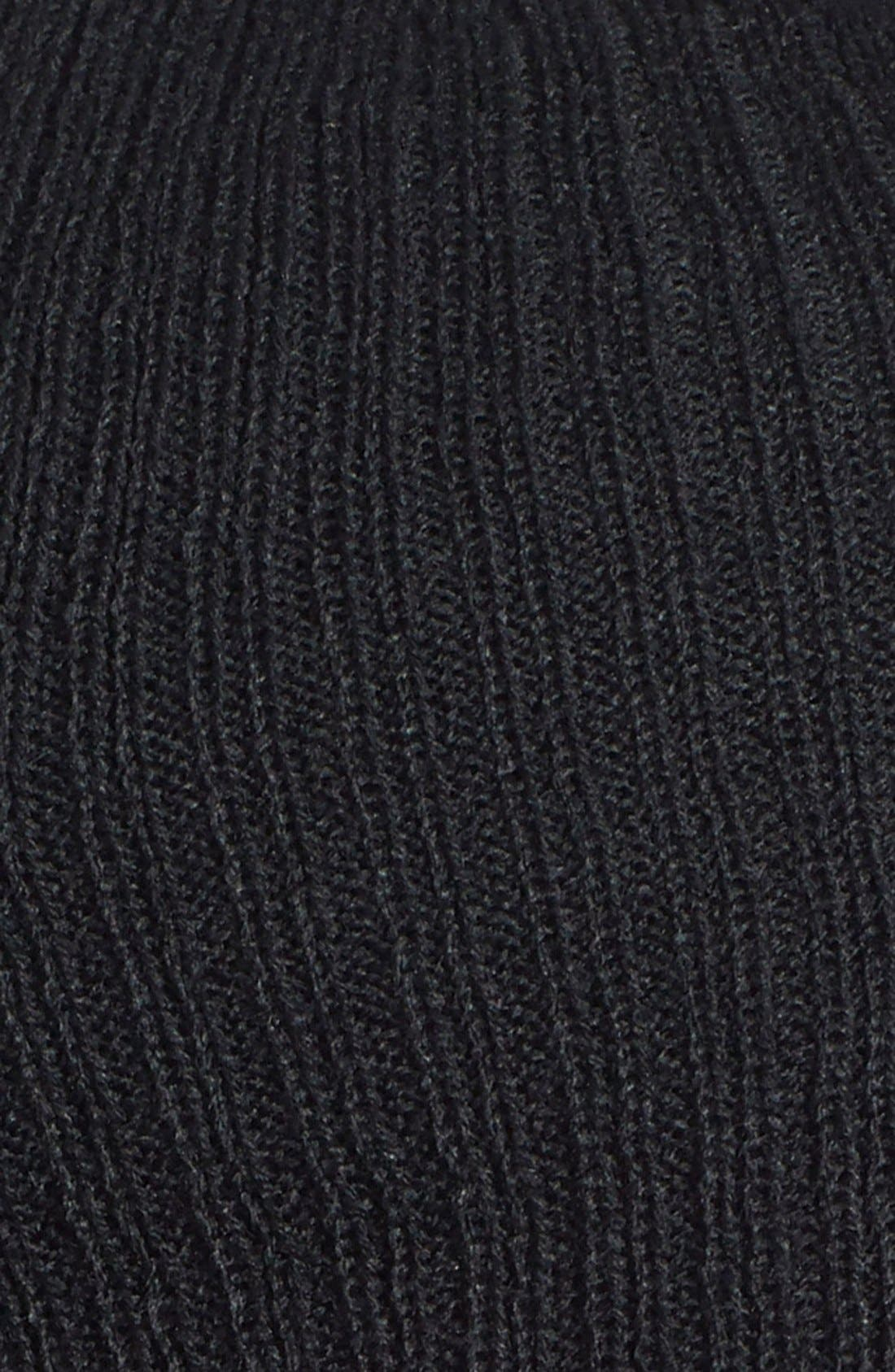 Slouchy Ribbed Beanie,                             Alternate thumbnail 4, color,                             001