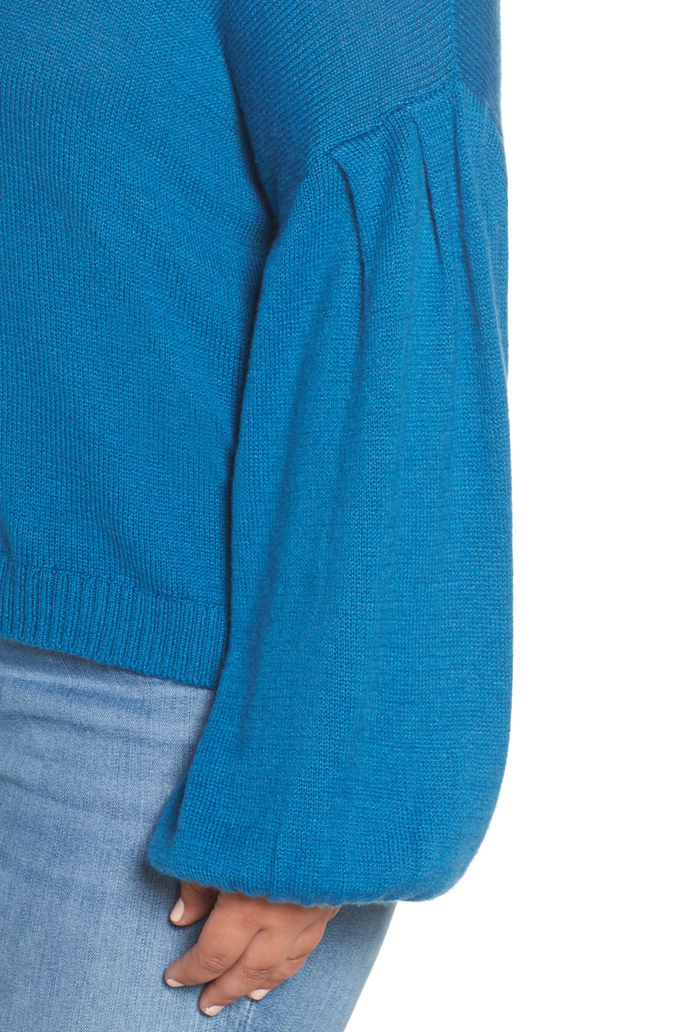Blouson Sleeve Sweater,                             Alternate thumbnail 10, color,                             TEAL SAPPHIRE