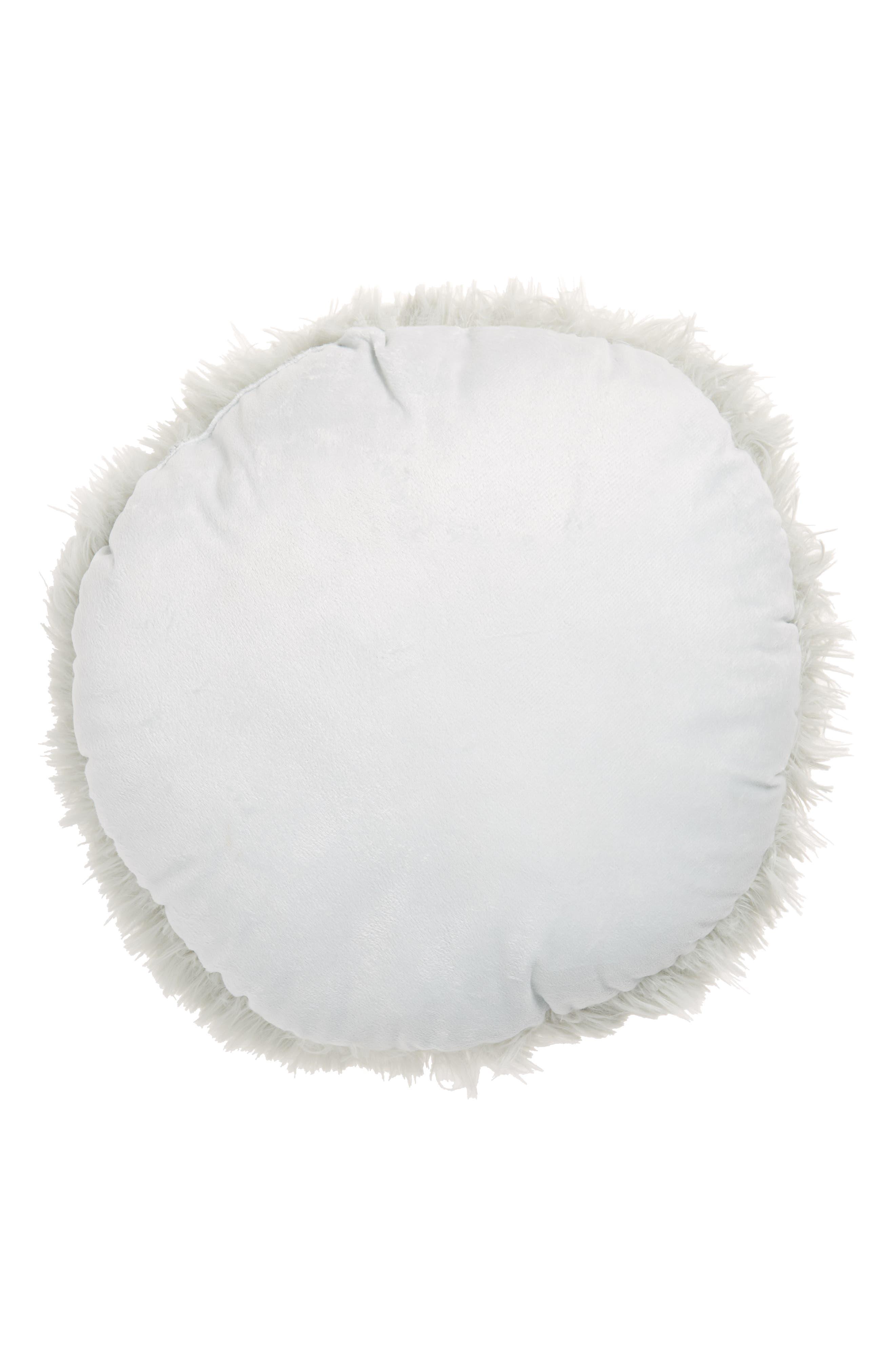 Feather Faux Fur Pillow,                             Alternate thumbnail 10, color,